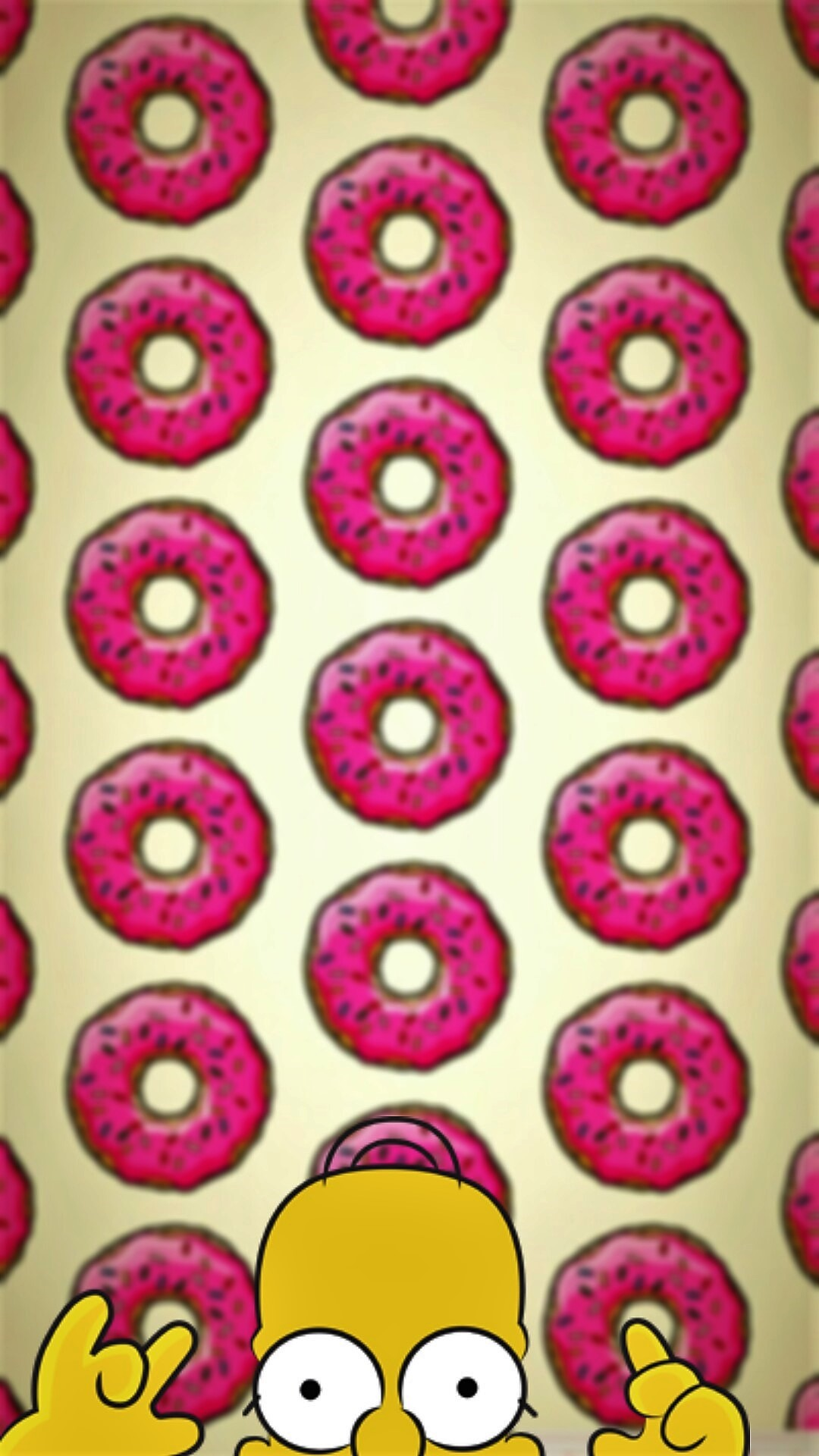 Homero donuts – Tap to see more of the cutest cartoon characters wallpapers!  – @
