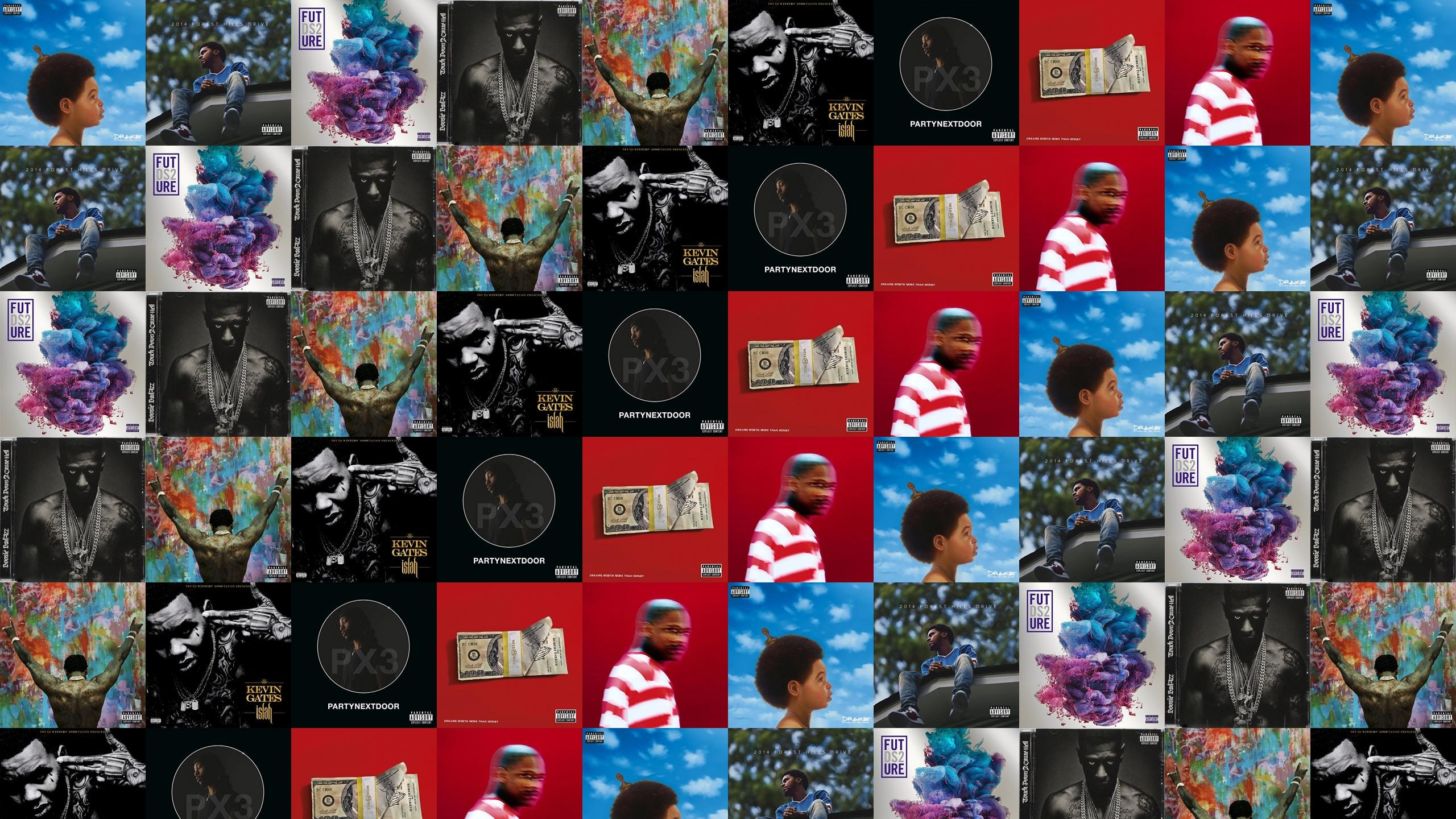 Download this free wallpaper with images of Drake – Nothing Was The Same,  J. Cole – Forest Hills Drive, Future – Ds2, Boosie Badazz – , Gucci Mane –  , Kevin …