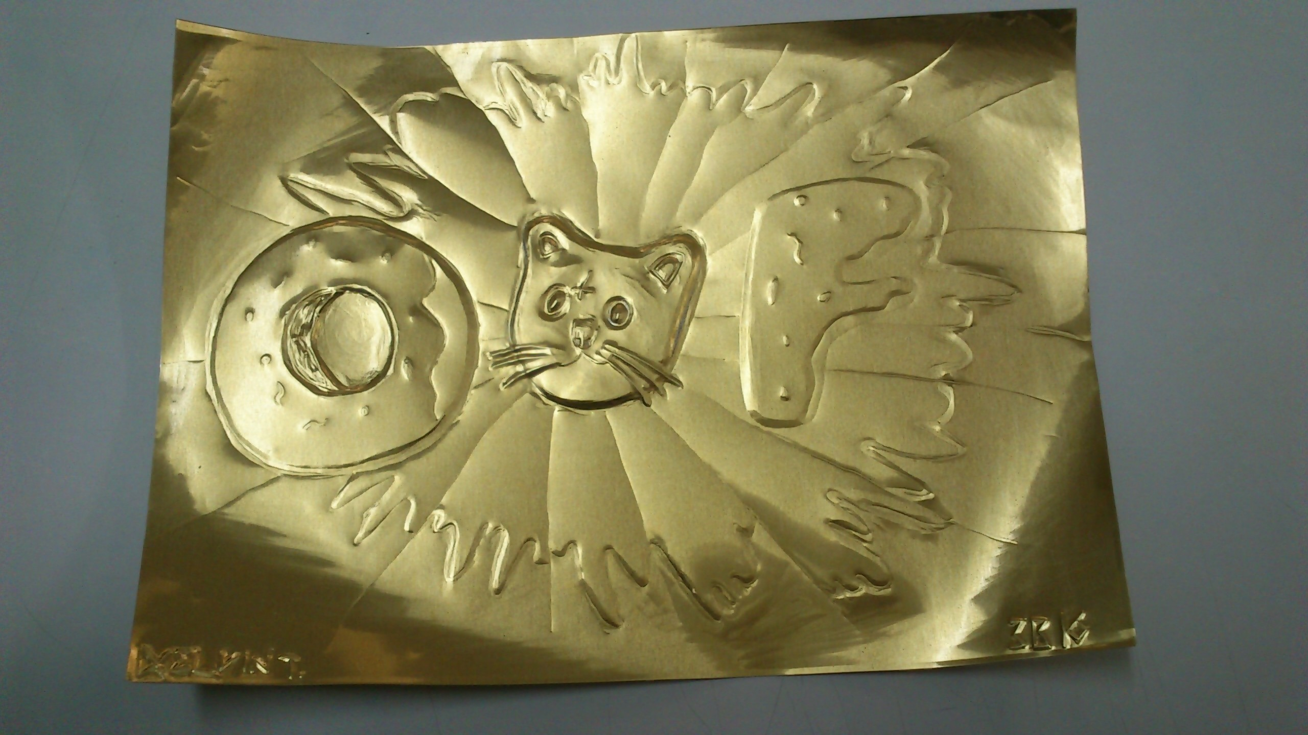 … Odd Future Logo and Cat on copper board by KelvinTang