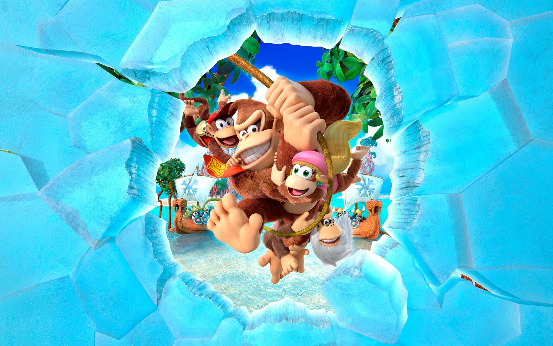wallpapers free donkey kong country tropical freeze