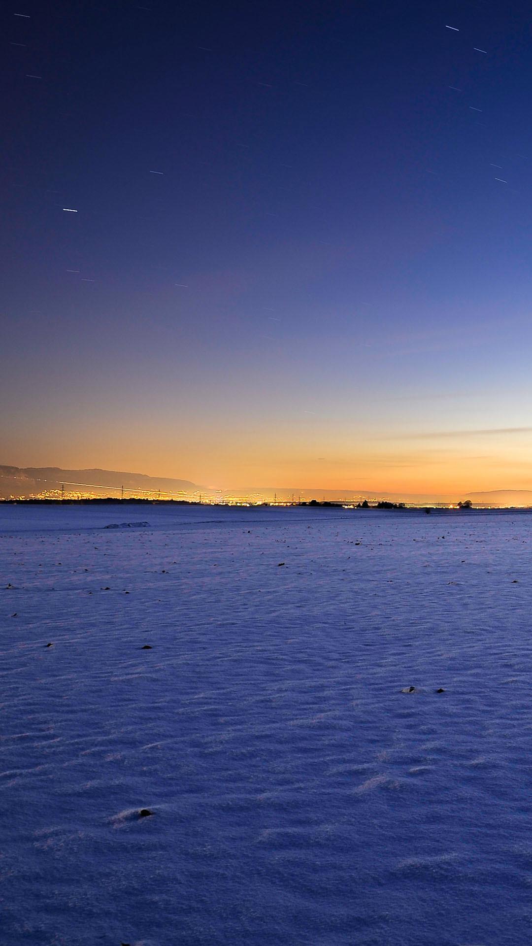 Freezing Night in Switzerland Star Trails Sky #iPhone #7 #wallpaper