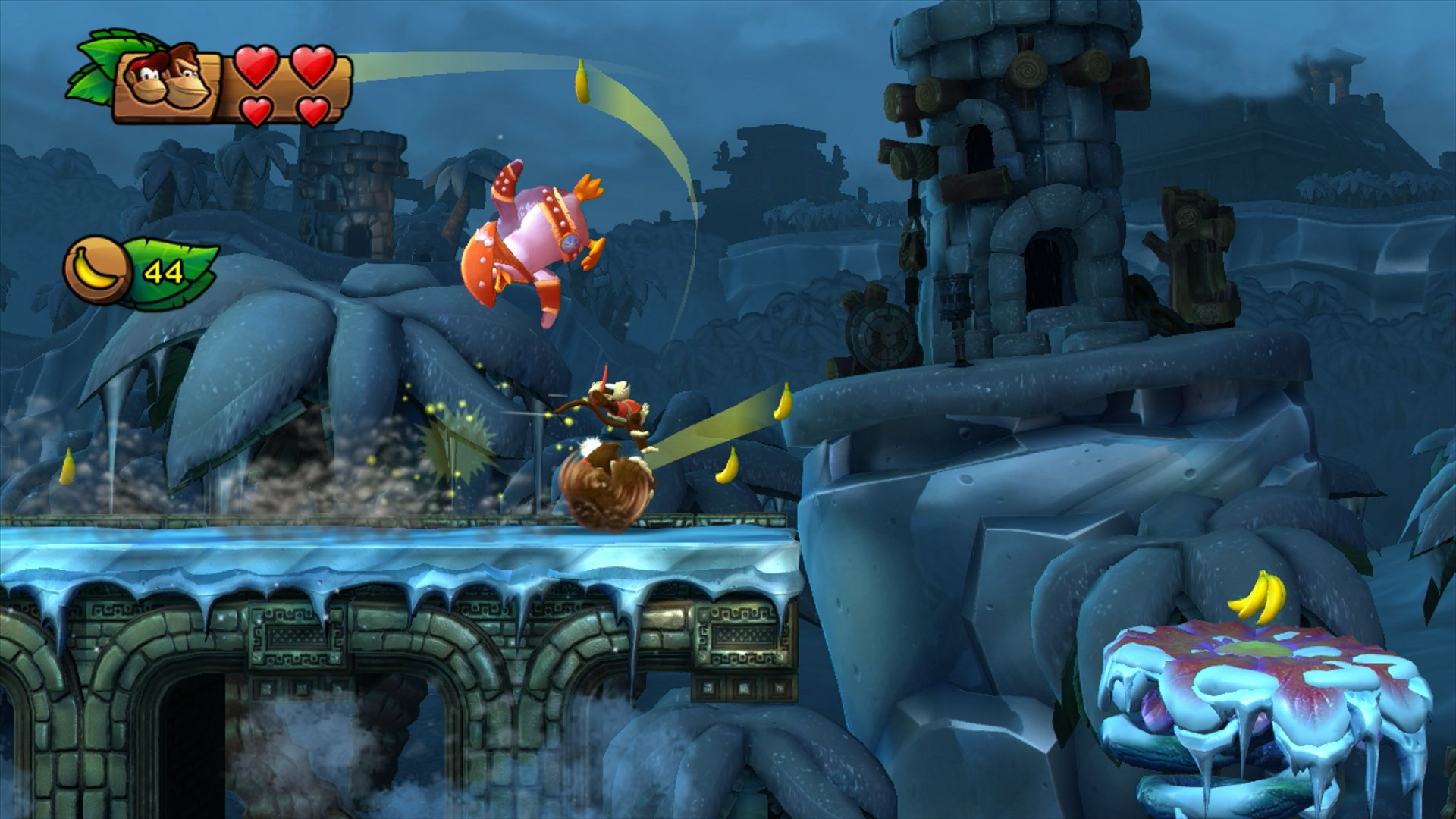 free screensaver wallpapers for donkey kong country tropical  freeze