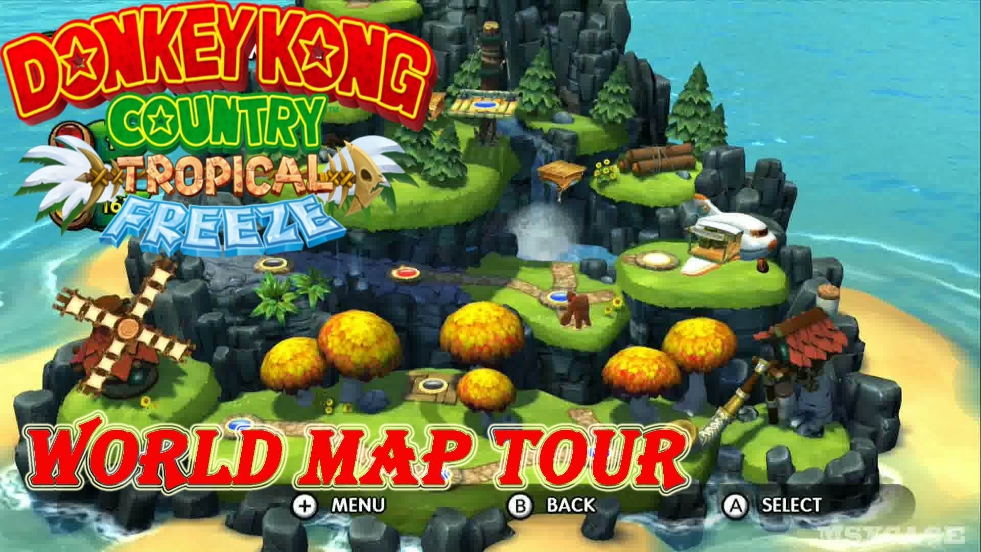 donkey kong country tropical freeze : High Definition Background