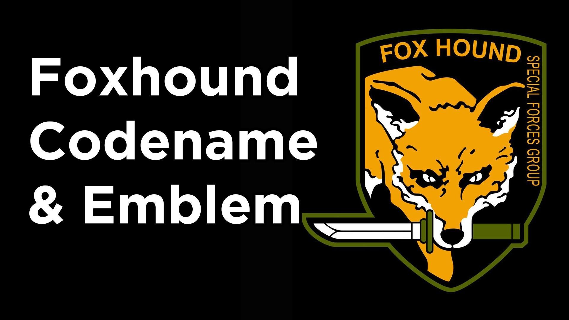 Metal Gear Solid V – Getting Foxhound Codename & Emblem easy way – YouTube
