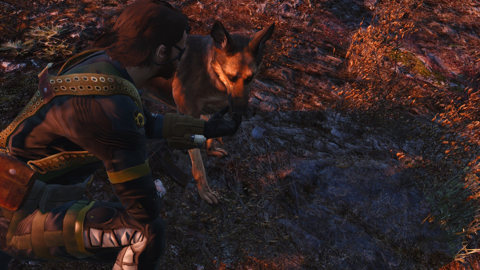 Snake and DD (Dogmeat) by Mr-FoxHound