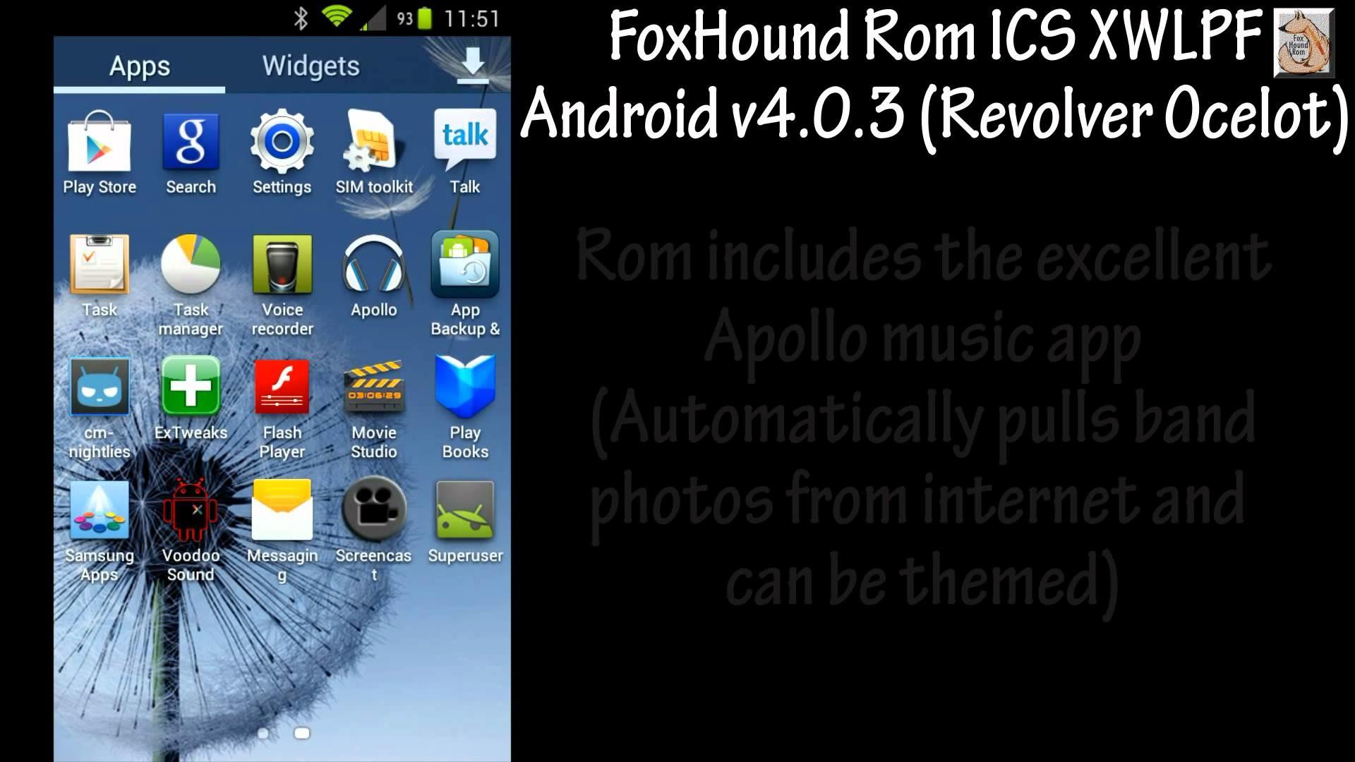 Samsung Galaxy S II GT-I9100 FoxHound Rom ICS XXLPS XWLPF Android v4.0.3  (Revolver_Ocelot)