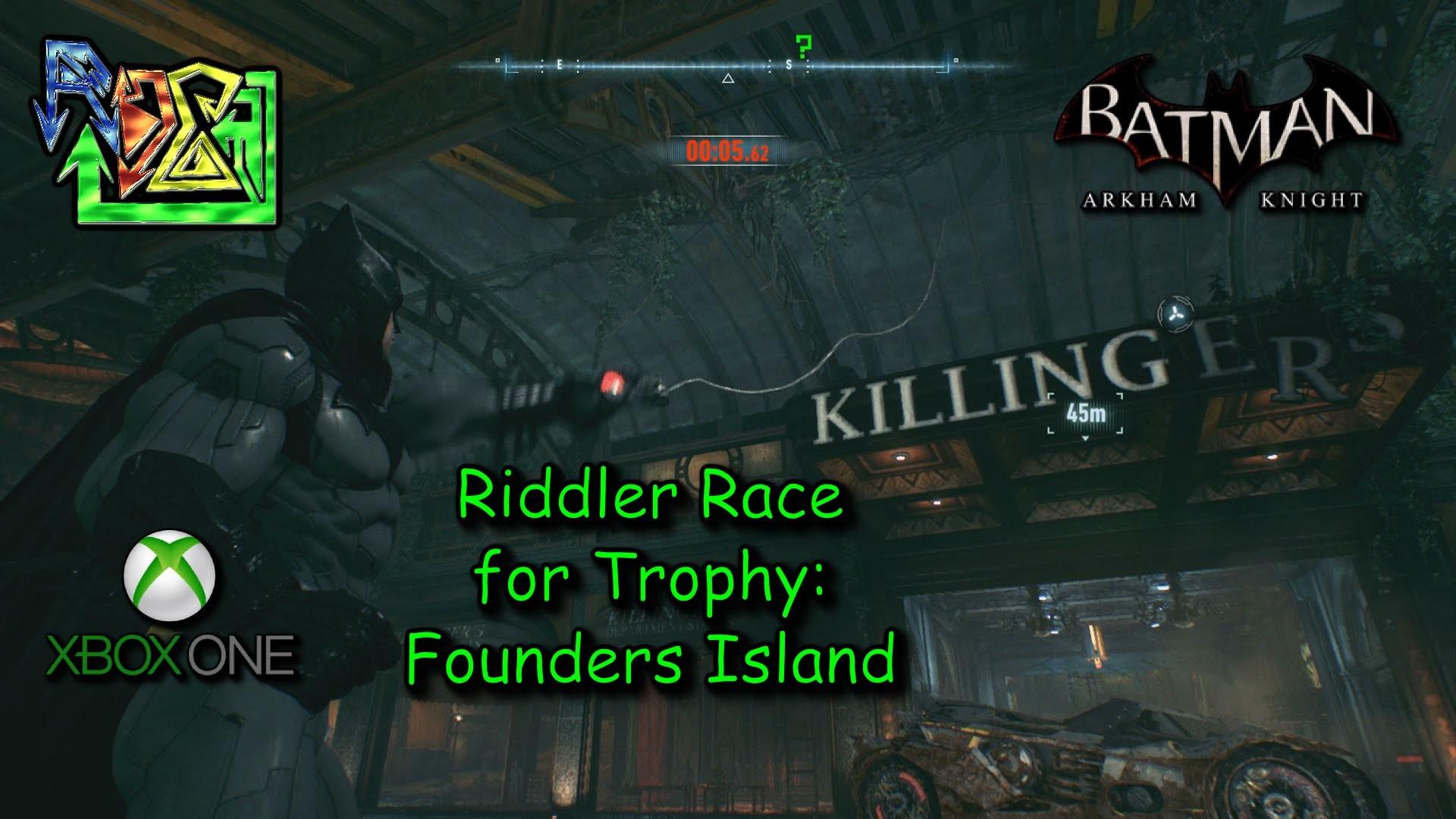 Riddler Trophy Race – Founders Island – Batman: Arkham Knight – YouTube