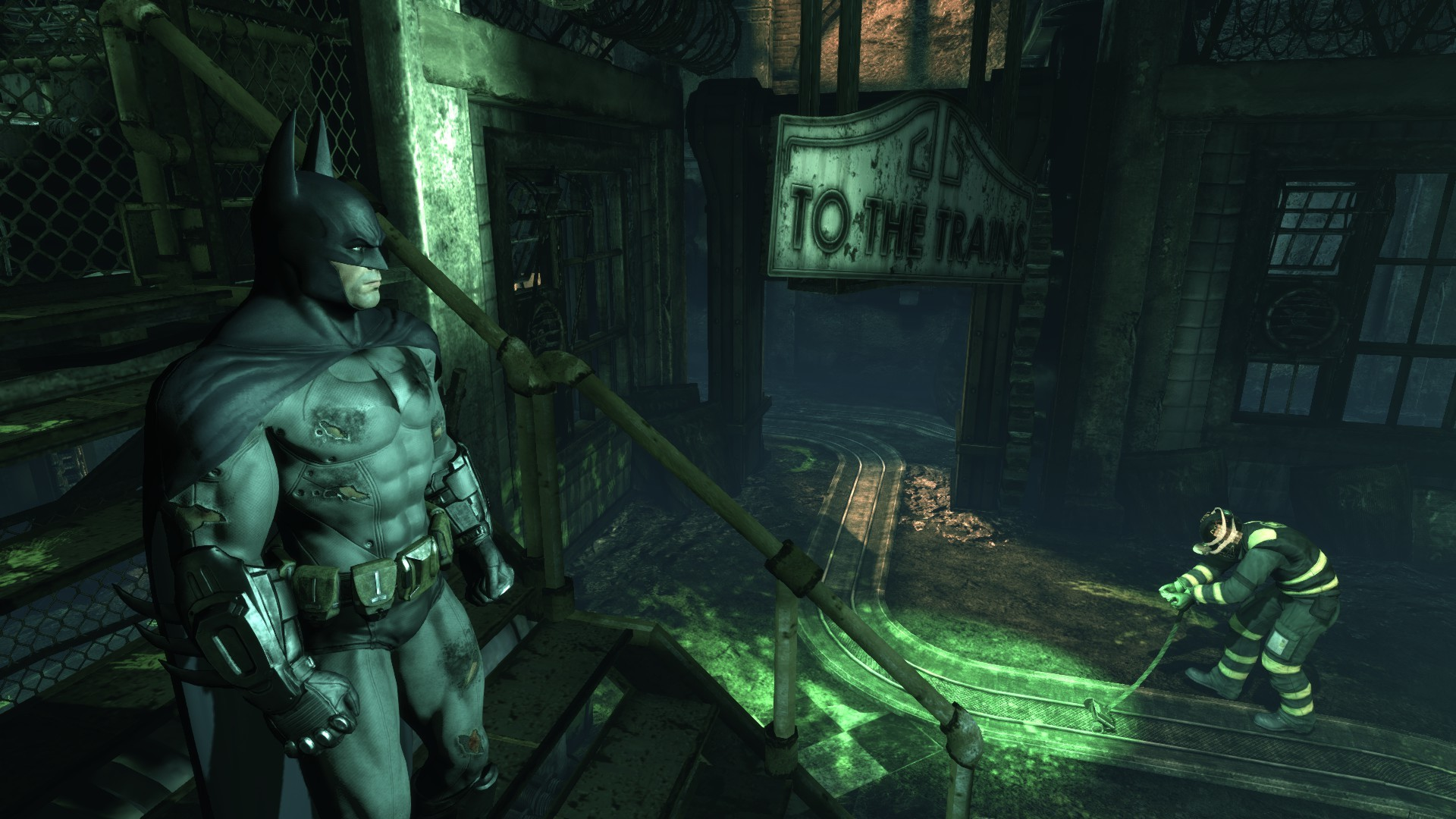 """When the tip """"Takedown"""" pop ups – press it and Batman will remind Riddler  that he has not only the sharpest mind, but a heavy fists too."""
