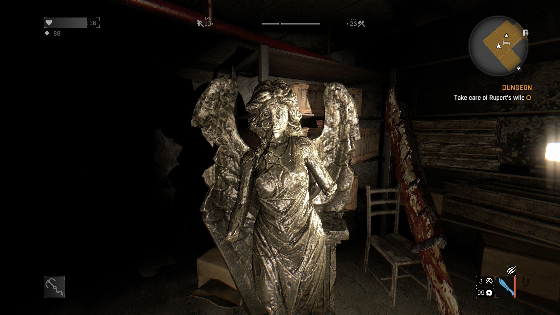 I thought it was a Weeping Angel for just a second when I found it.