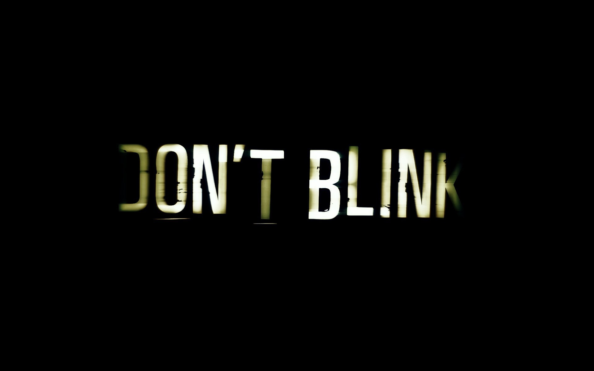 Typography Dont Blink