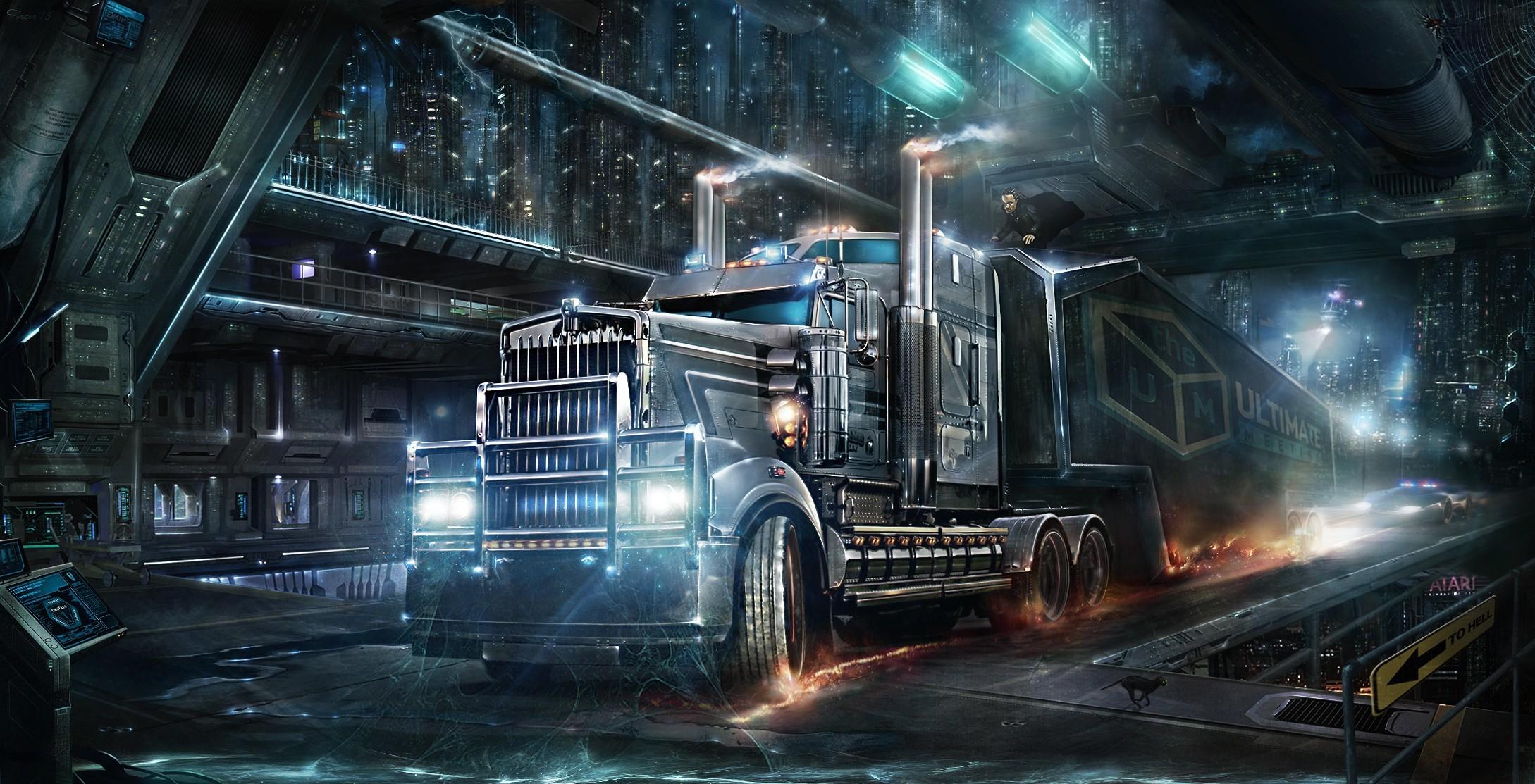… road train heavy truck wallpaper hdwallpaperfx …
