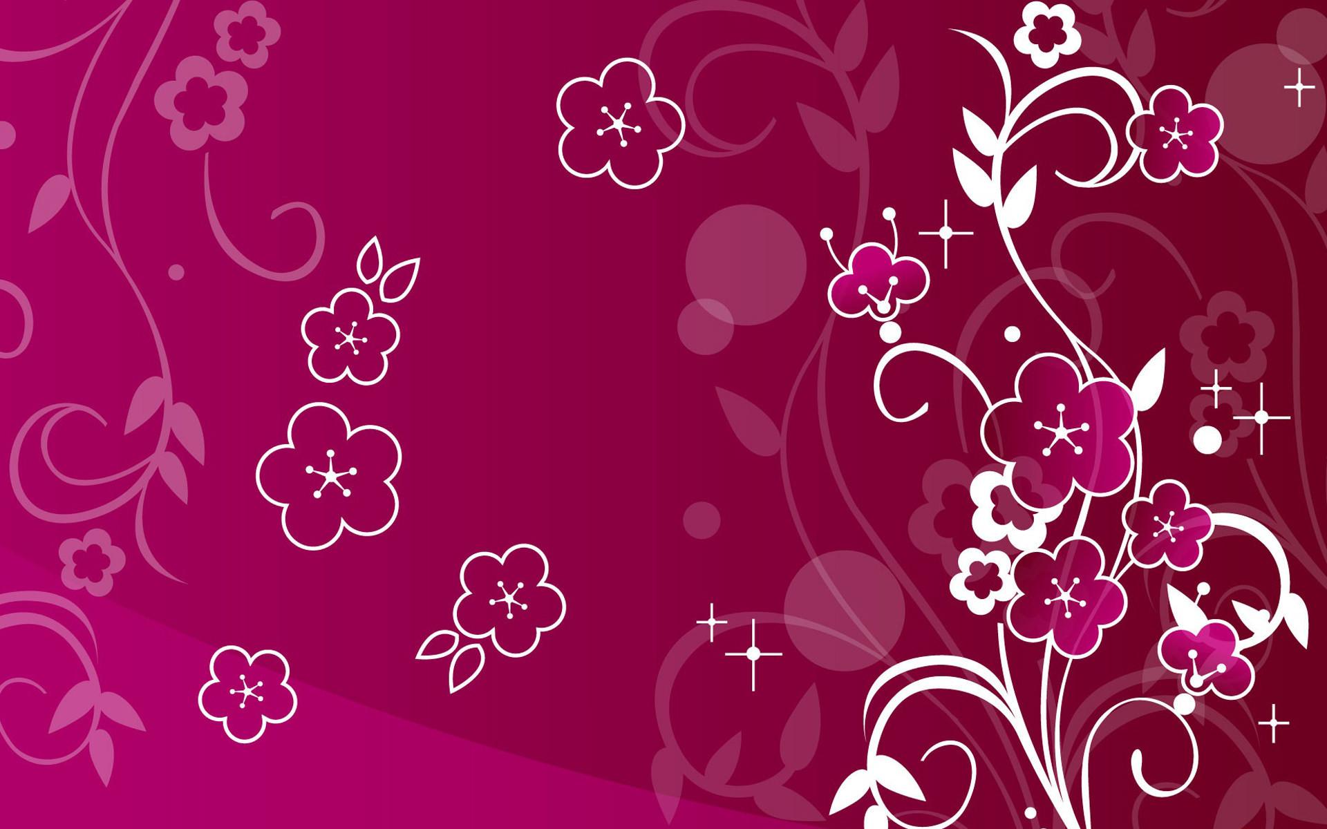 Wonderful Dark Pink Girly Wallpaper
