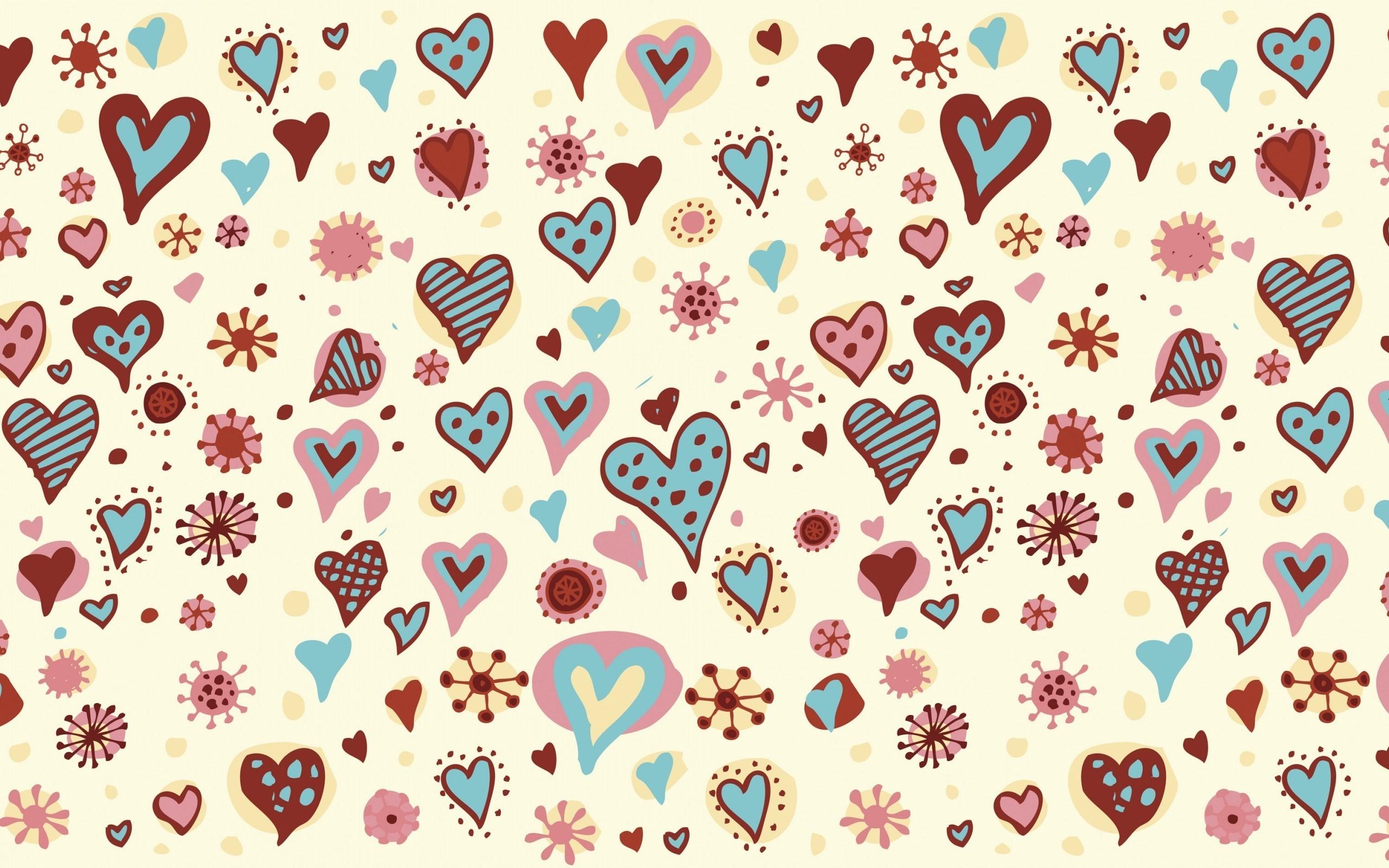 Hearts Texture Love
