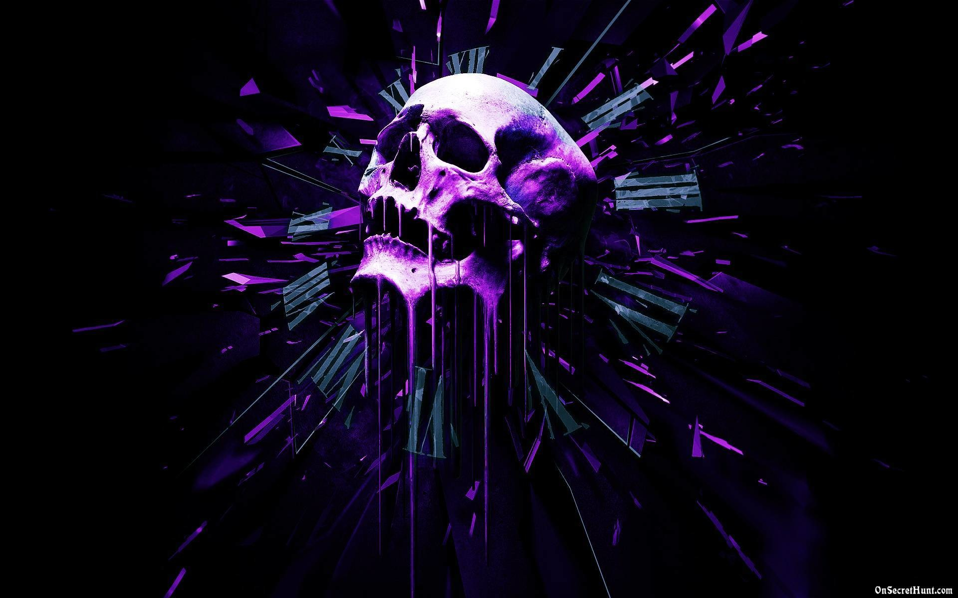 Black And Purple Skull Wallpapers