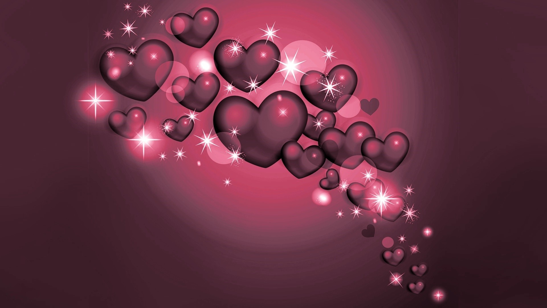 LOVE SPECIAL GLITTERING CUTE LOVE HEARTS DESKTOP BACKGROUND .