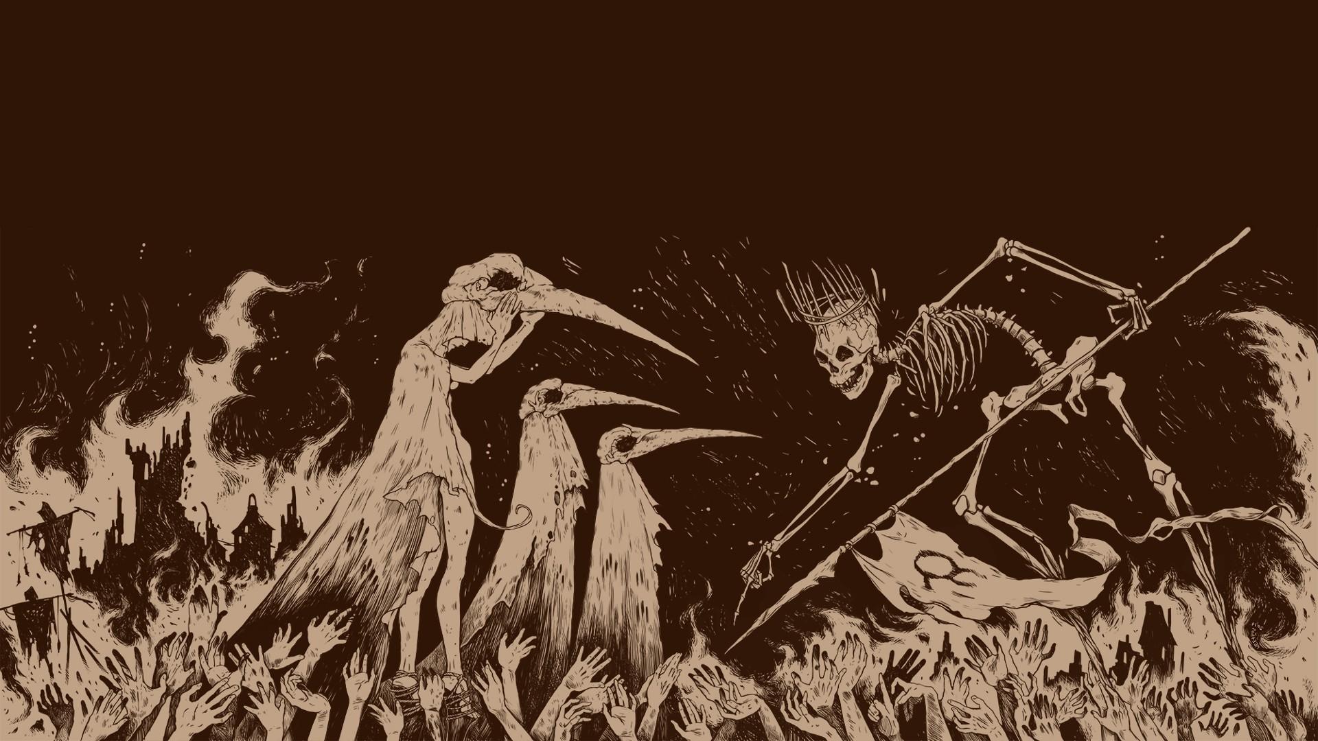 pathologic, Video Games, Brown, Plague, Plague Doctors, Death, Skeleton,