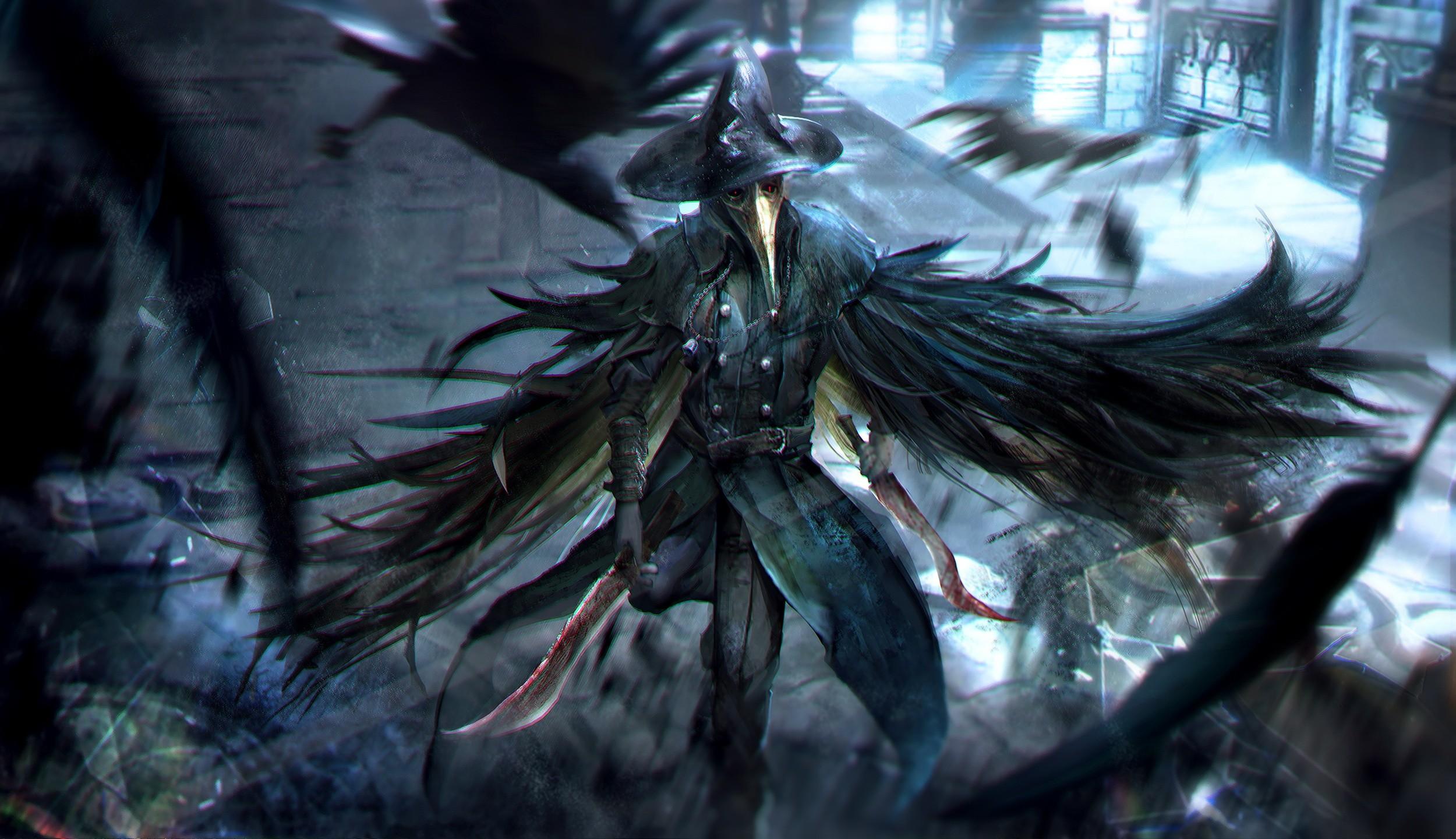 Bloodborne Eileen the Crow Game Art Wallpaper