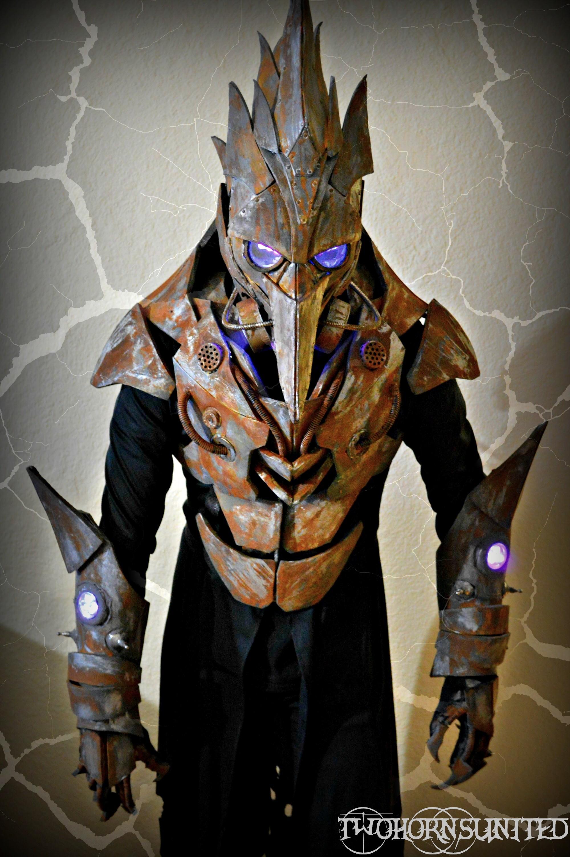 The Iron Beak LED TeslaPunk Plague Doctor Costume by  TwoHornsUnited.deviantart.com on @