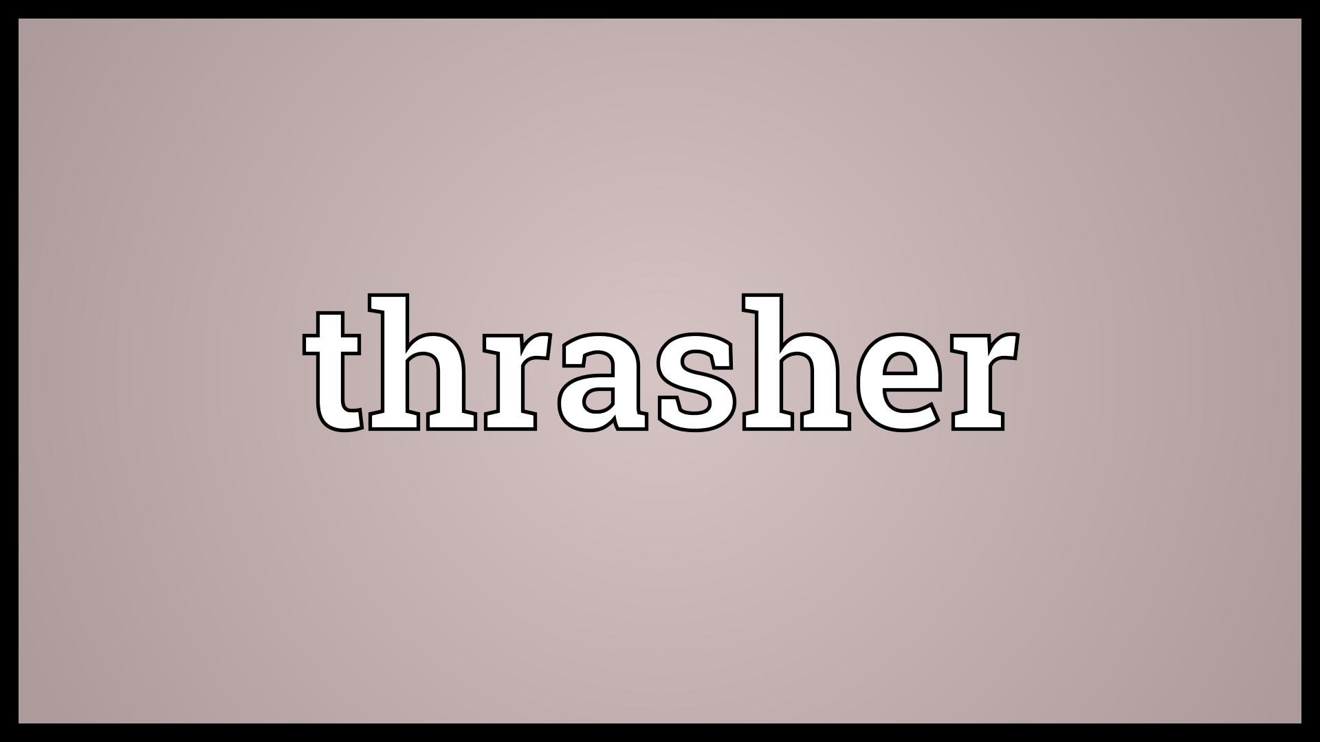 Thrasher Meaning