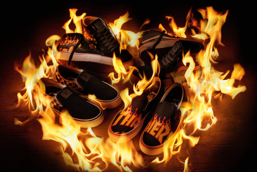 … to release a full line of apparel, accessories and footwear in late  July to commemorate the ubiquitous Thrasher flame logo, originally released  in 1981.