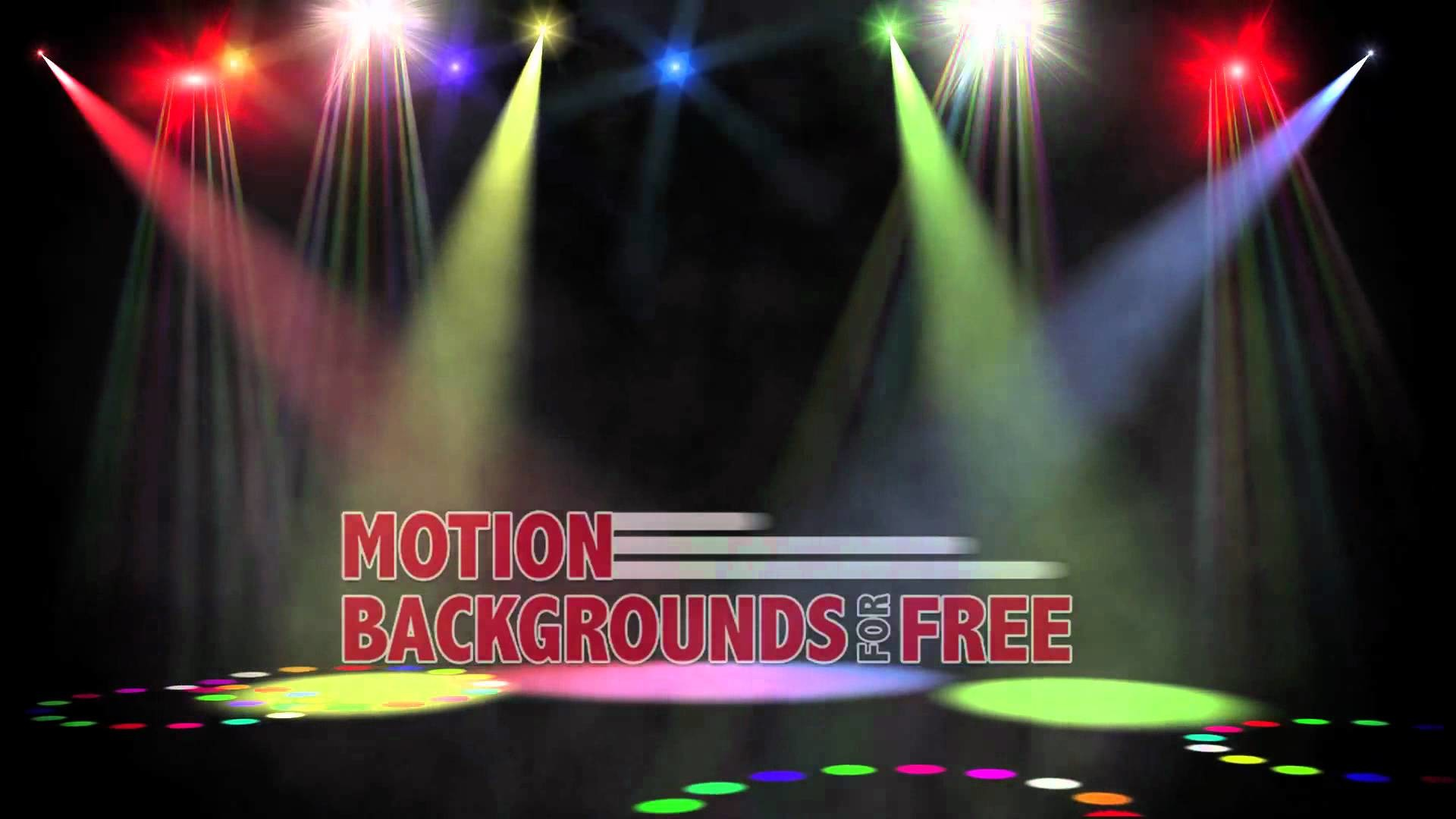 """Free Light and Energy Motion Background """"Center Stage"""""""