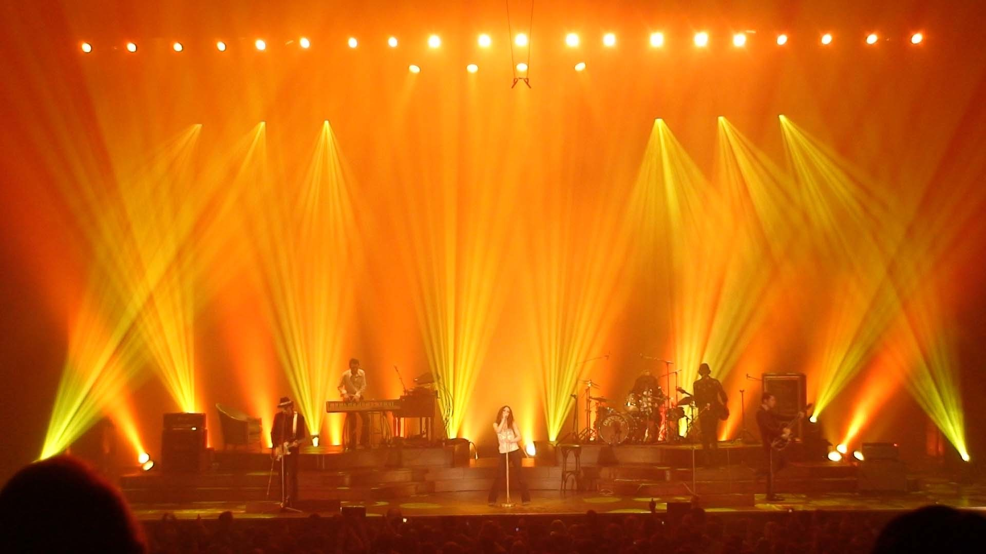 Yellow Stage Lights Background