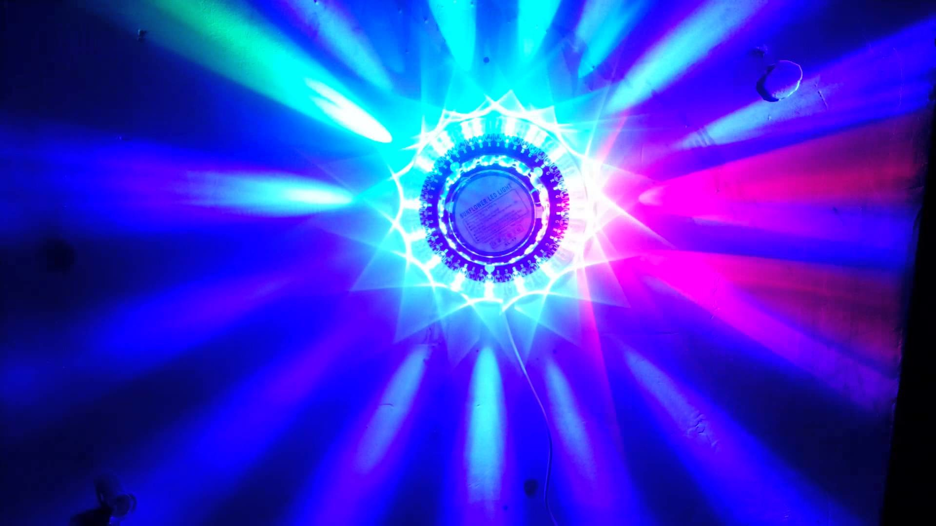 SUNFLOWER LED LIGHT—Party/Club/ Bar/ Concert item-Sound activated stage  light/ disco light. – YouTube