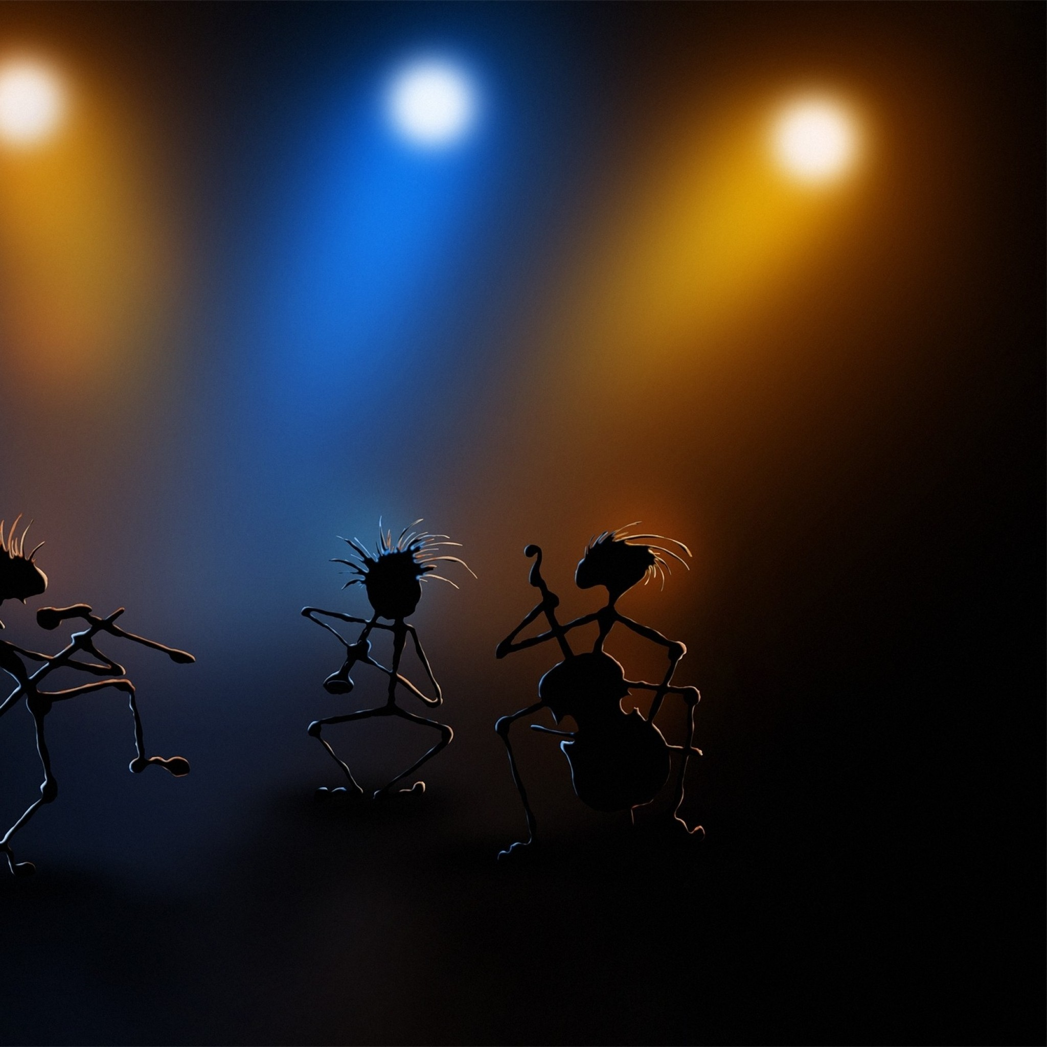 Preview wallpaper dance, stage, performance, simulation, light 2048×2048