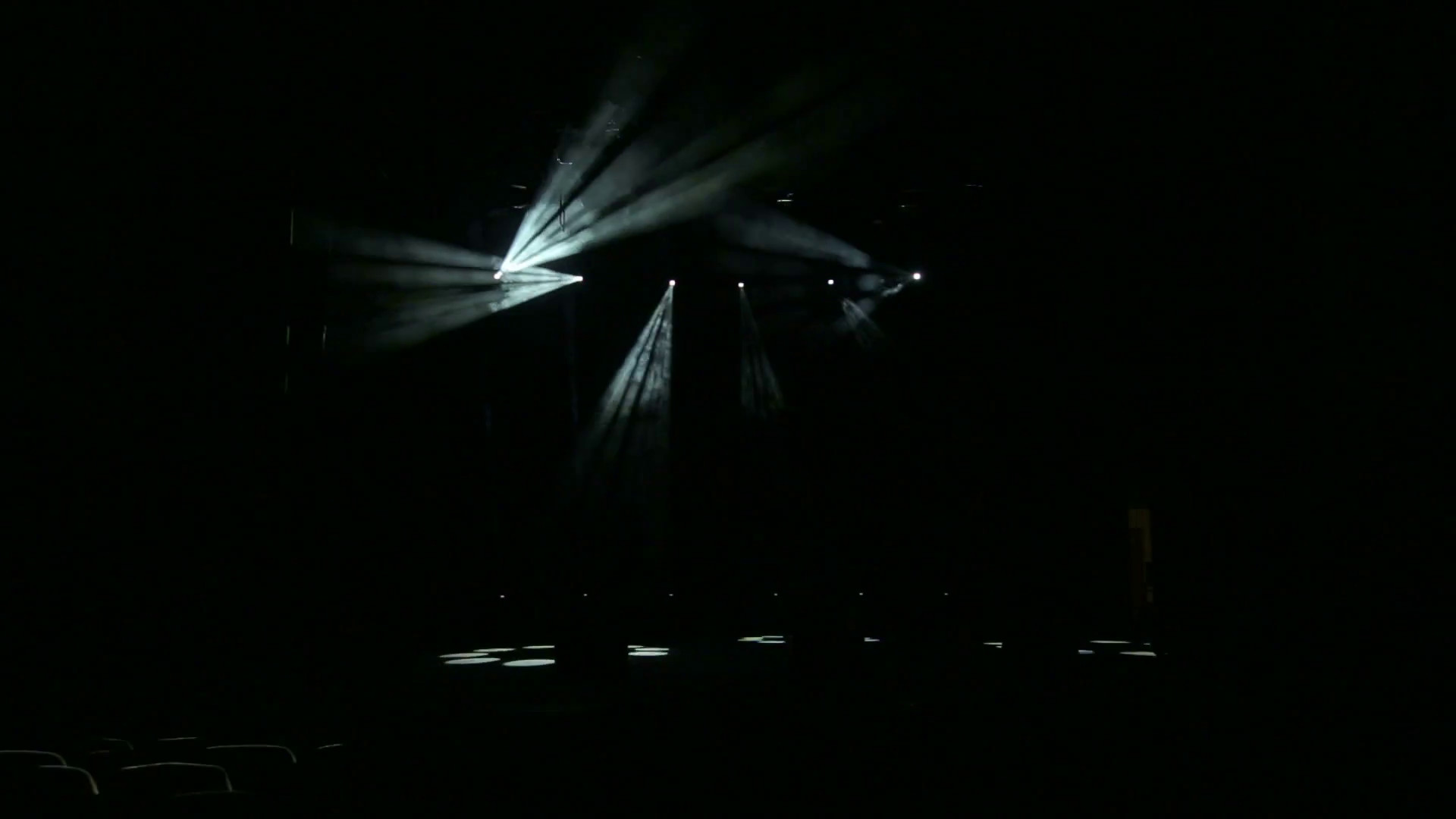 Stage lighting in action. Concert light in the dark. Free stage with  lights. Stock Video Footage – VideoBlocks