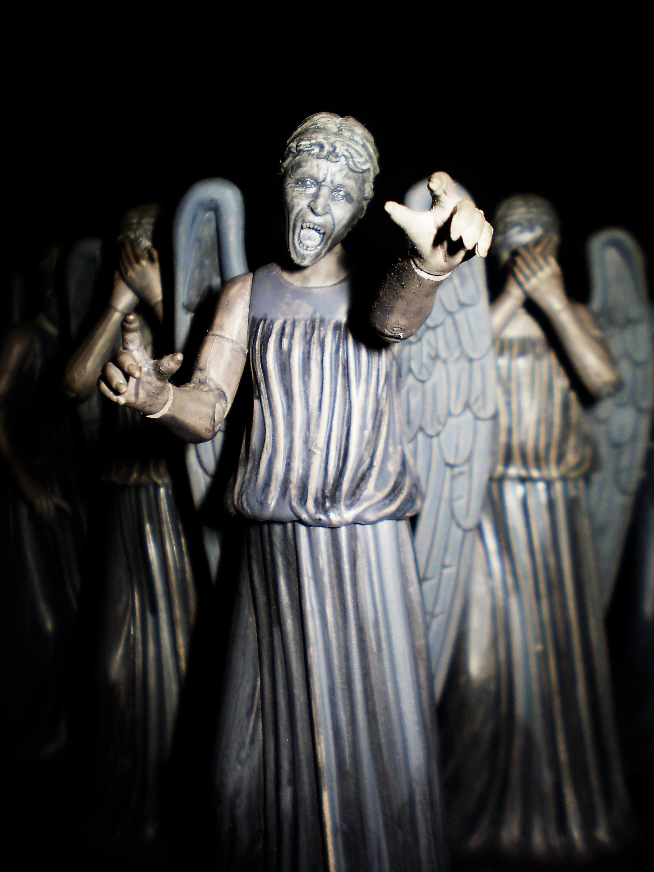 Weeping Angels. I did not blink while repinning this.