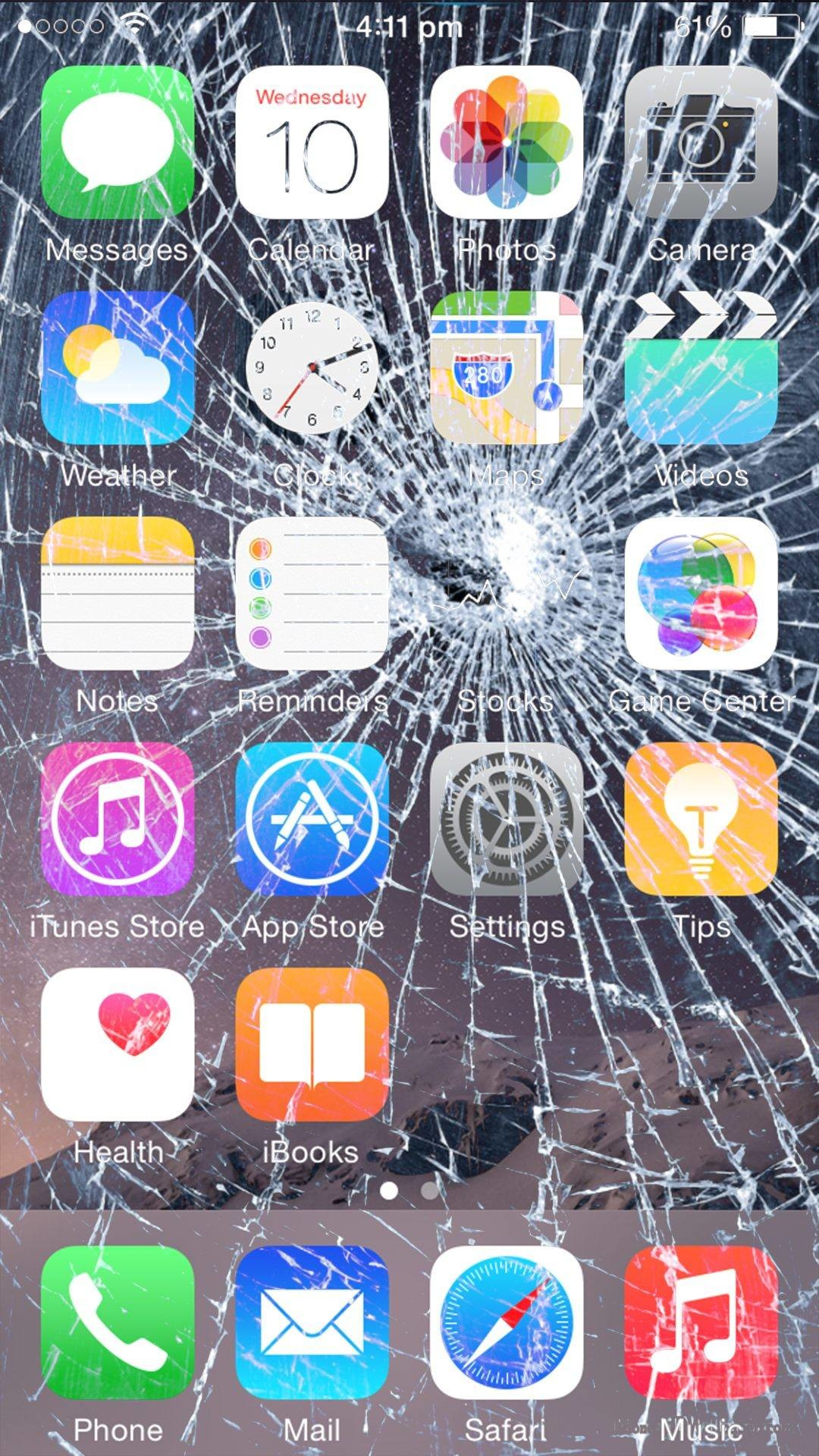 7 Broken Screen Wallpapers For Apple iPhone 5, 6 and 7 – Best Prank To Fool  Apple Fanboy …
