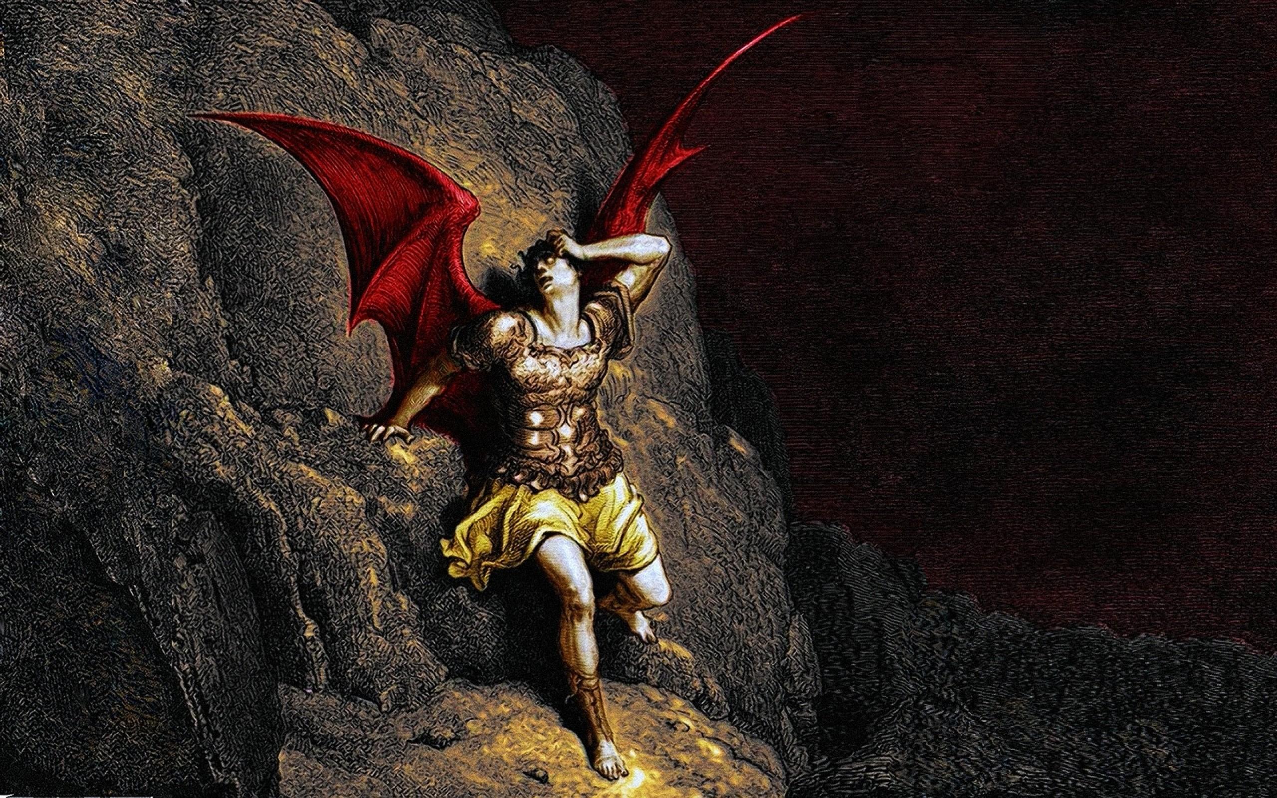 fallen angel fire demons hell heaven satan demonic lucifer satanic Art HD  Wallpaper