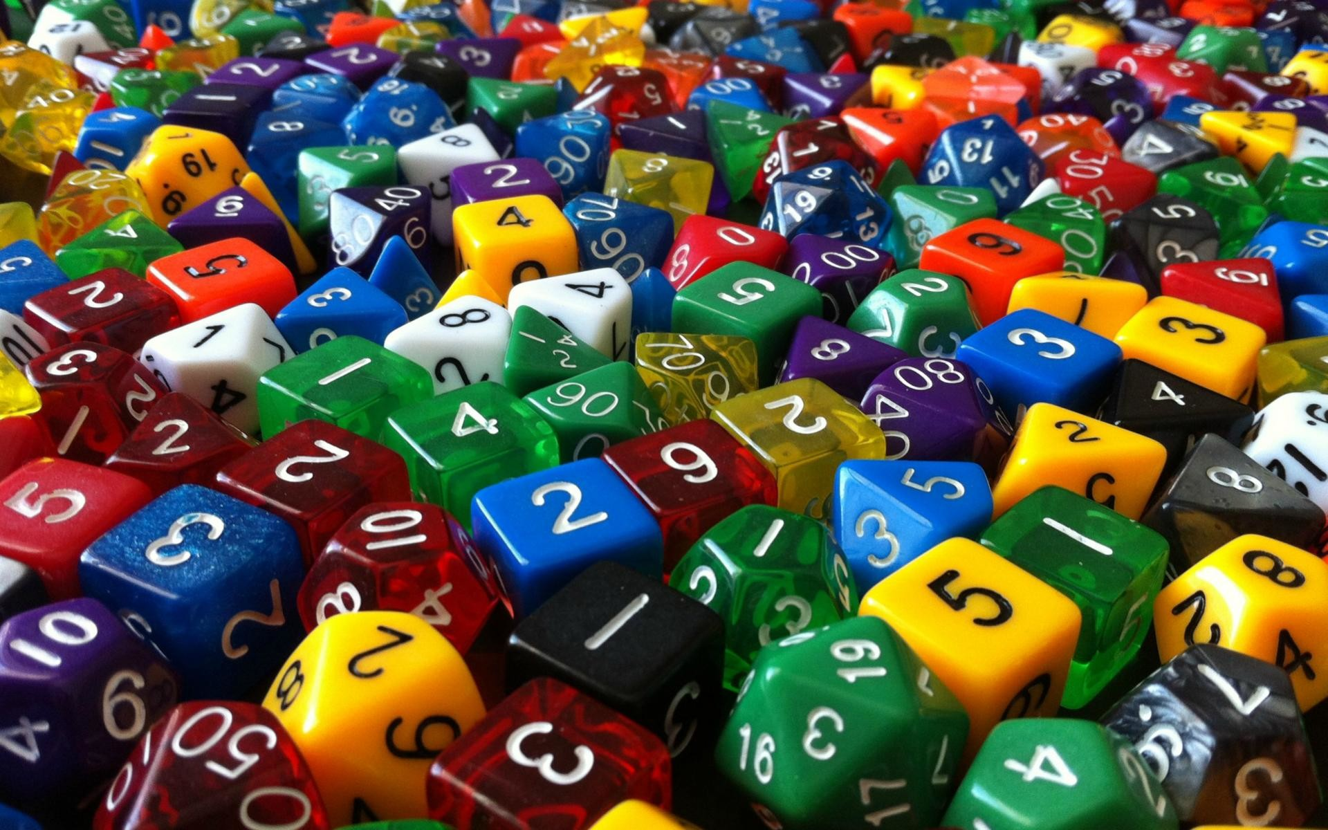 Polyhedral Dice Wallpaper