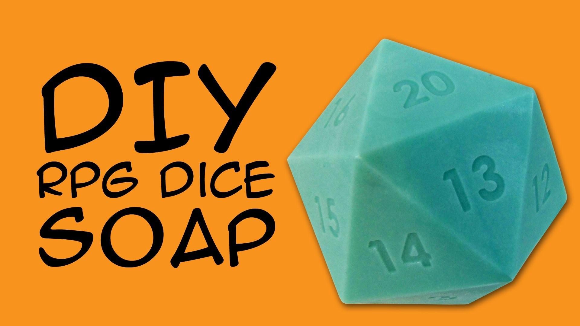 DIY SOAP – d20 RPG Dice Soap Craft: (RPG Fandom) a CraftyMcFangirl.com  Tutorial