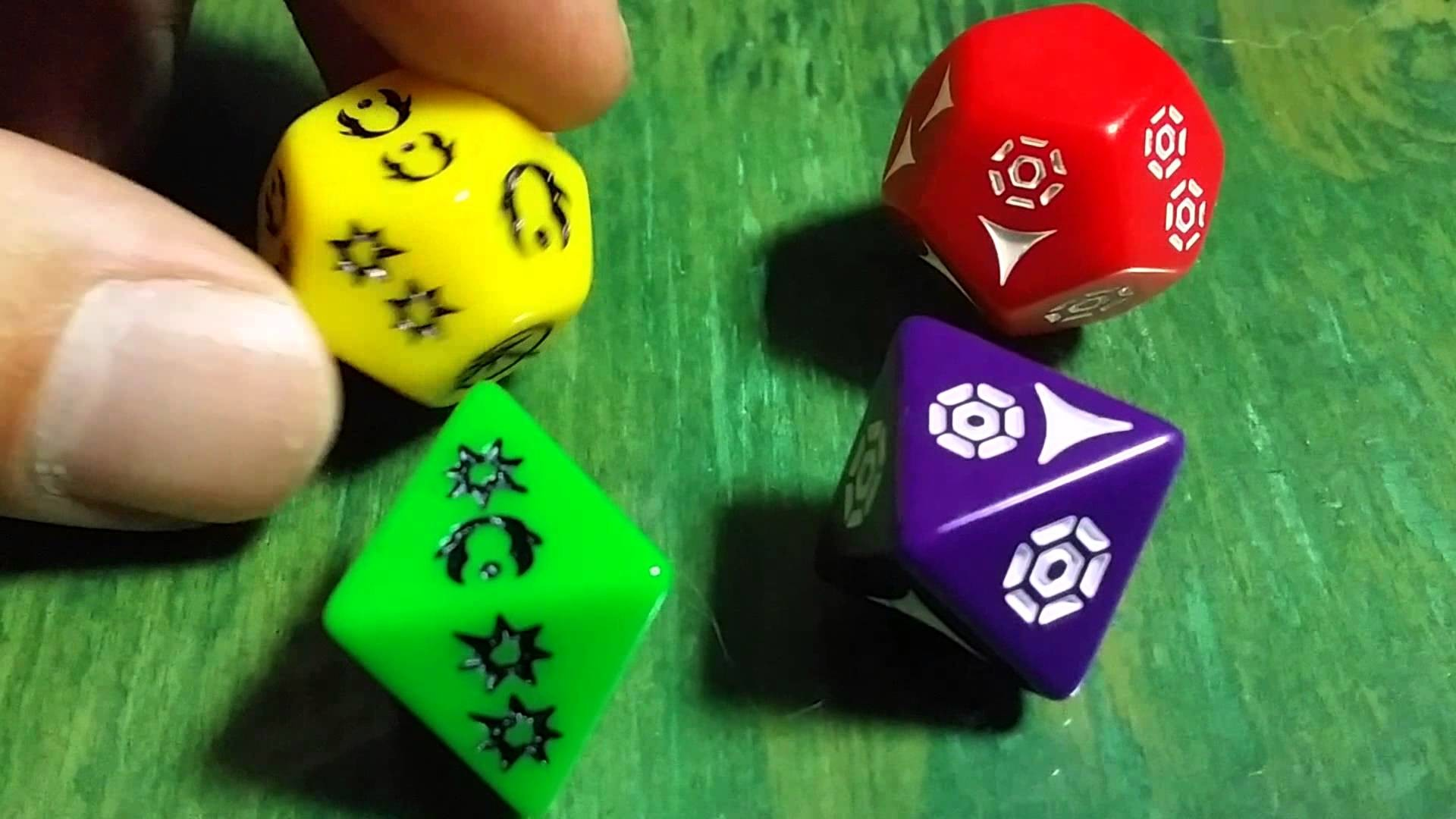 Star Wars Narrative RPG Dice Overview