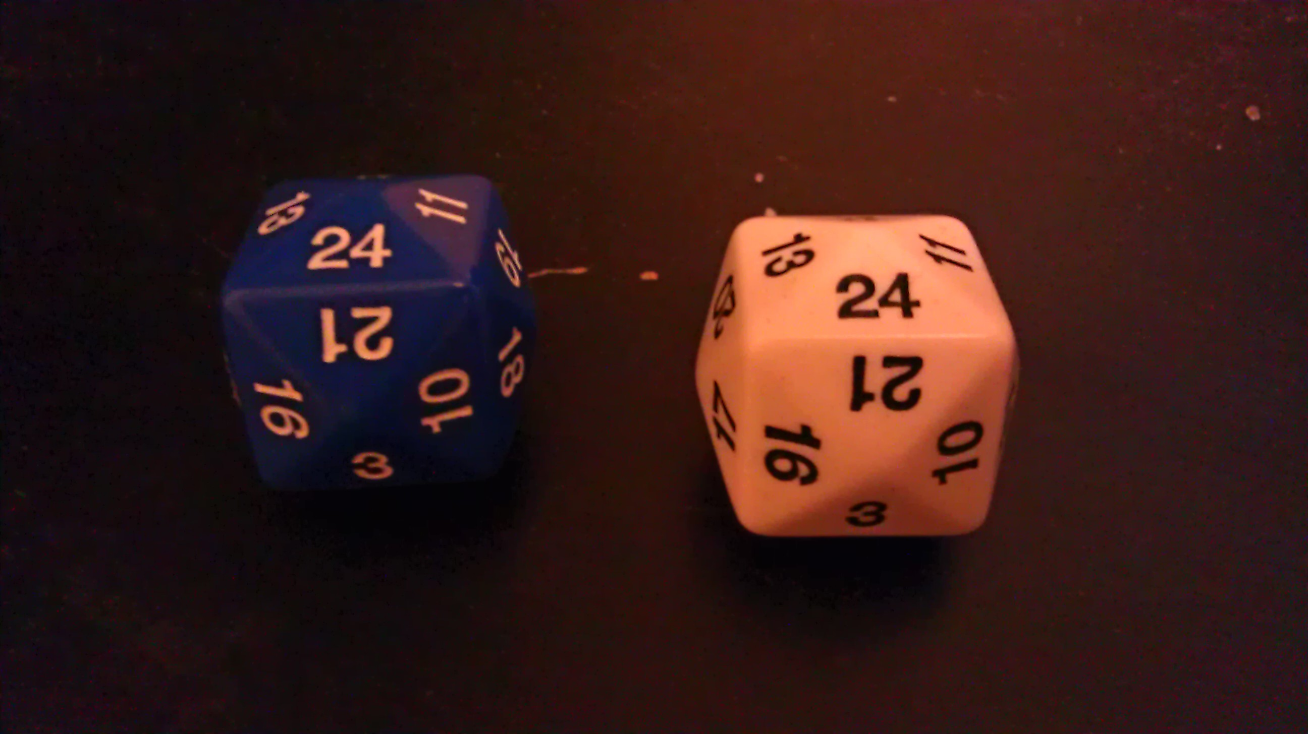 I found some 24 sided dice. What games should be played with these?