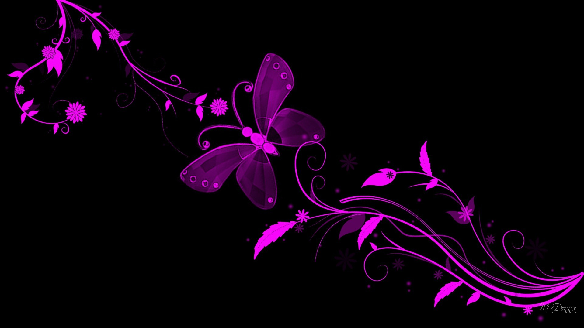 … black with pink flowers wallpaper flower …