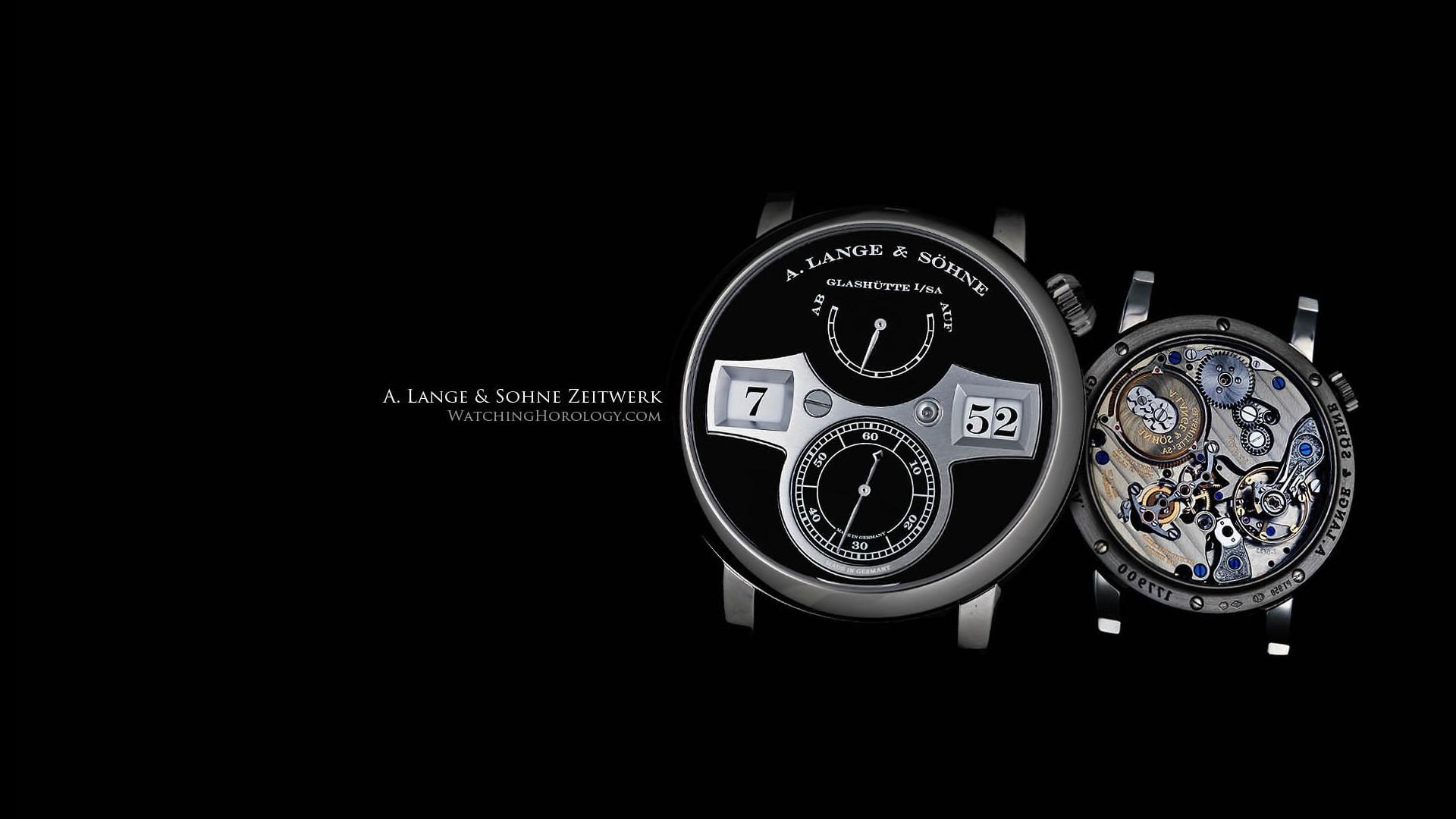 Lange & Sohne Zeitwerk Watch HD Image Brands & Ads