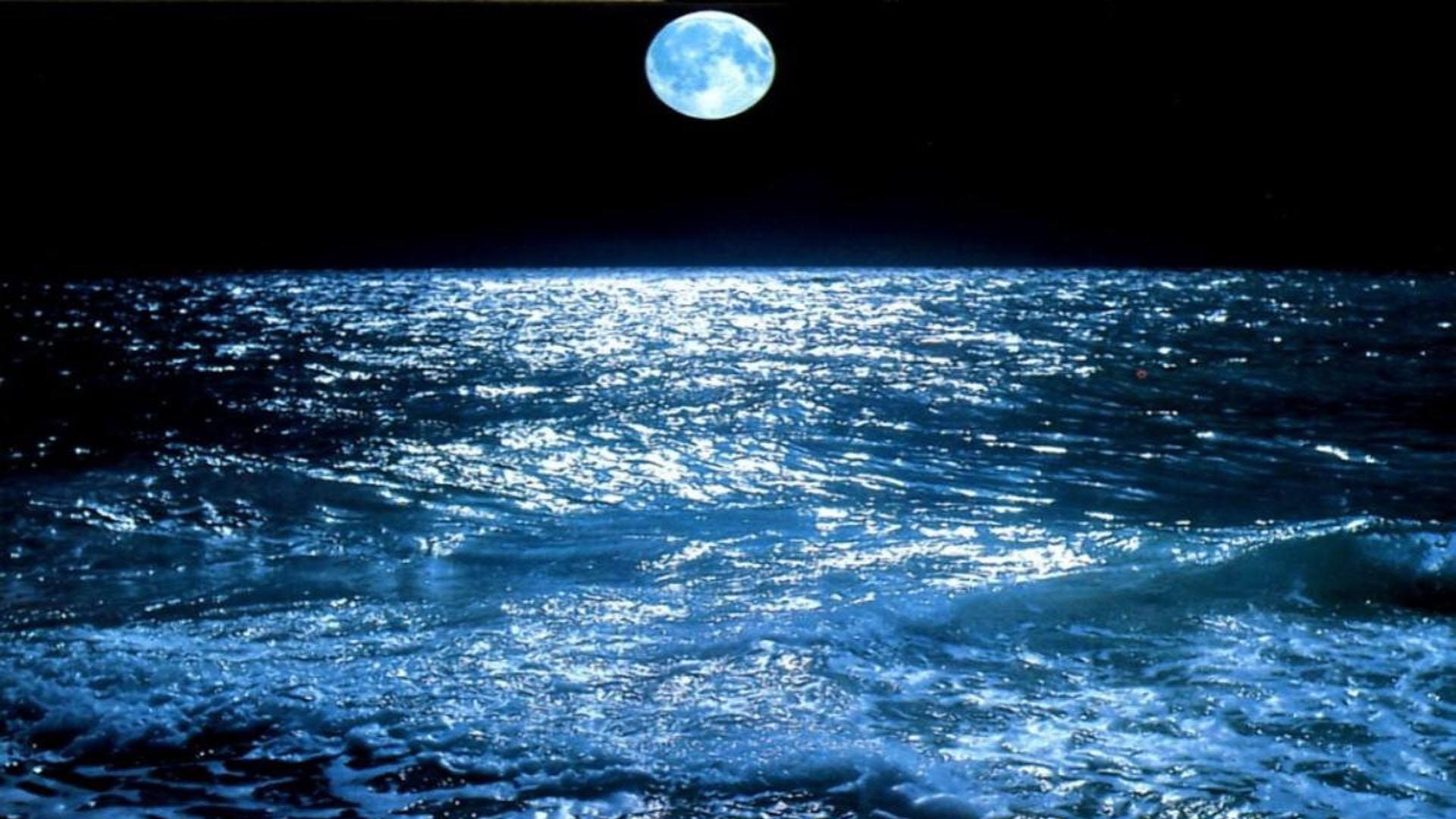 Night Ocean Picture Wallpaper