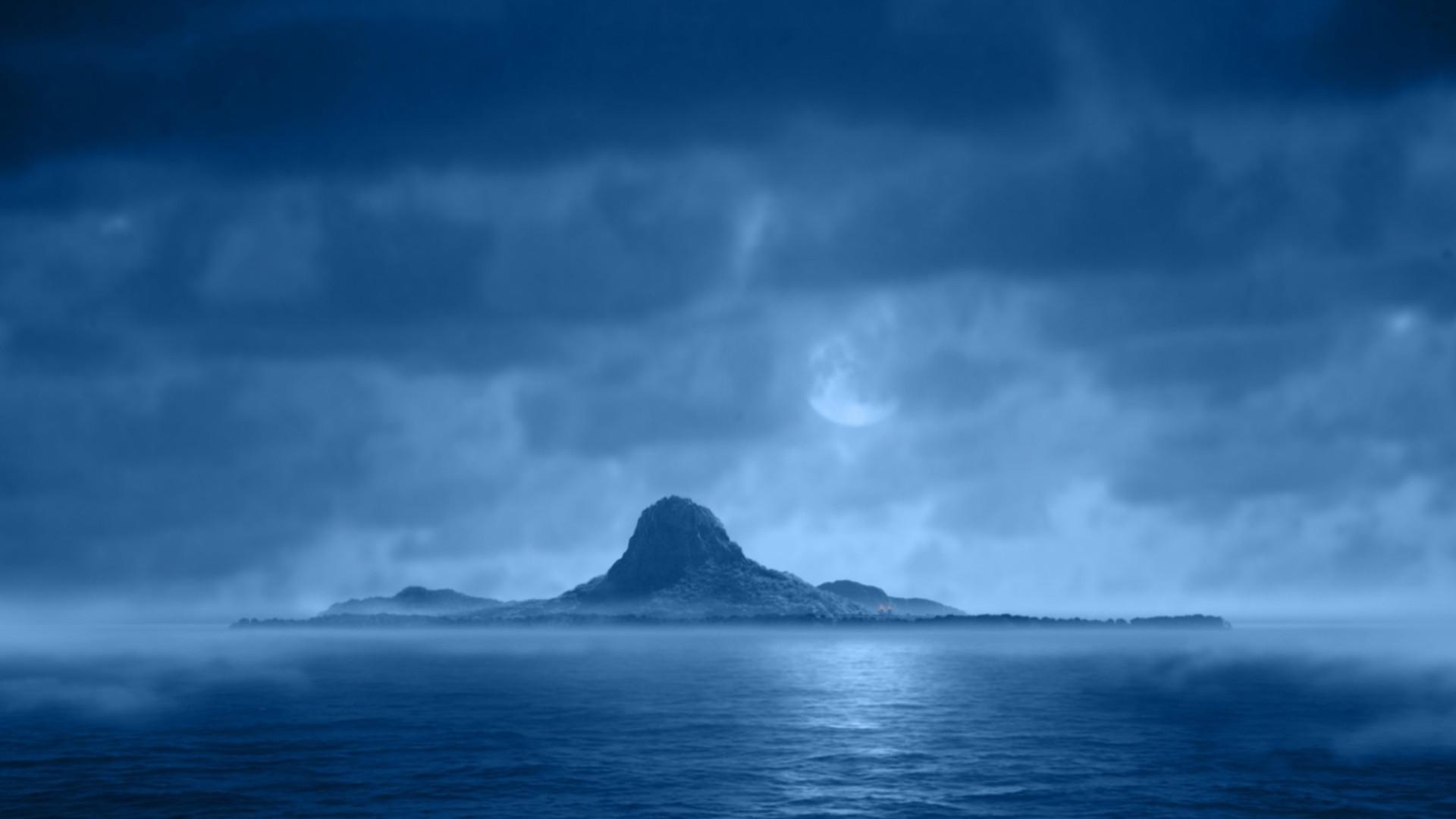 Island in the blue night HD Wallpaper 1920×1080