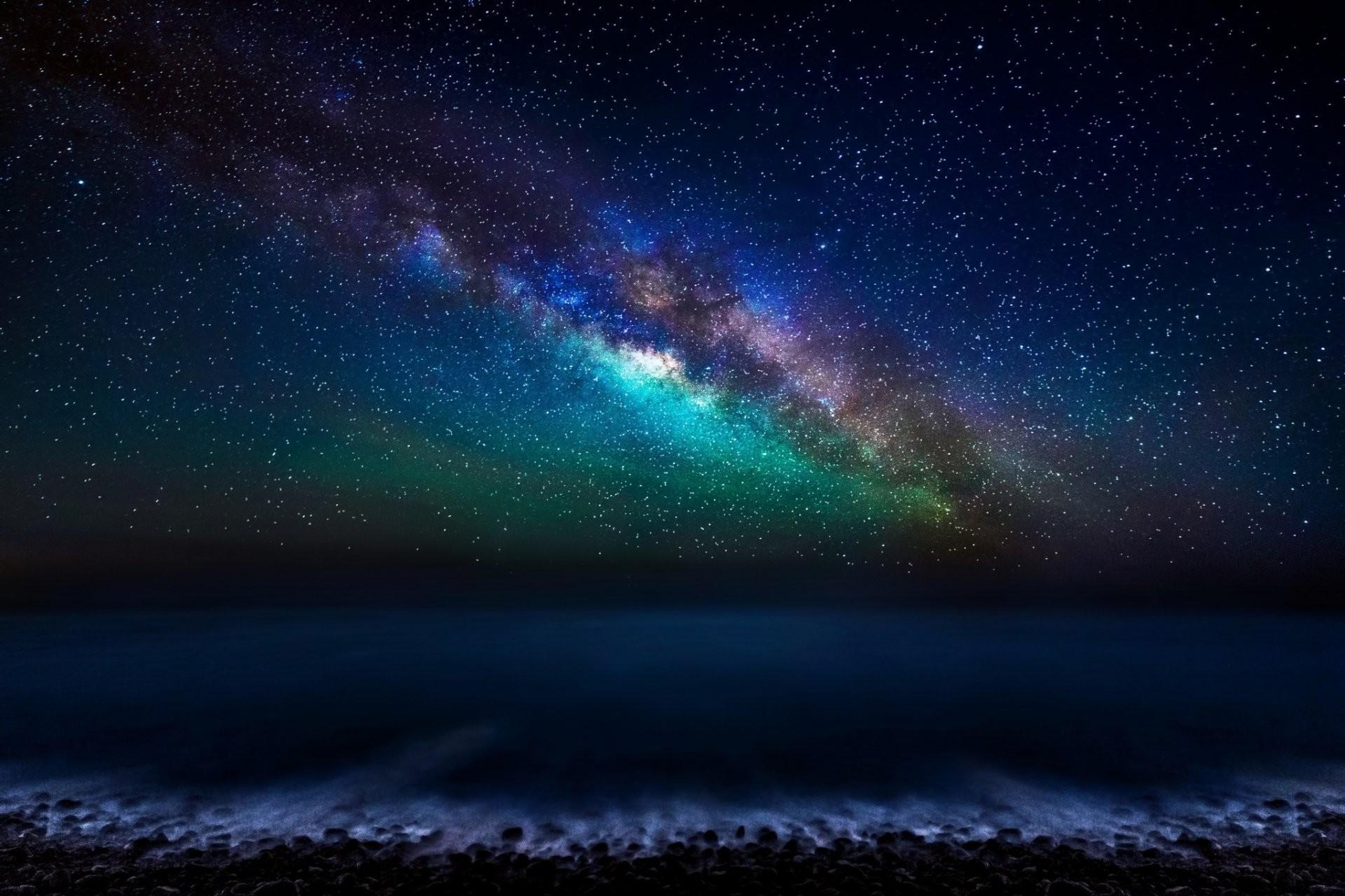 canary islands atlantic ocean sky night star milky way