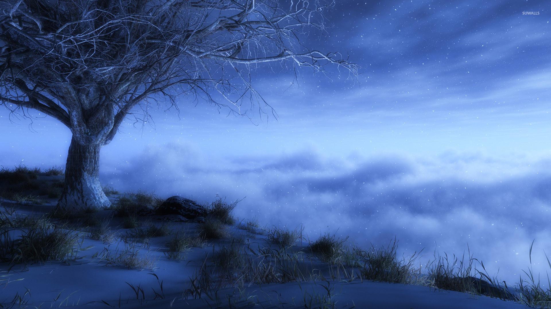 Winter night wallpaper jpg