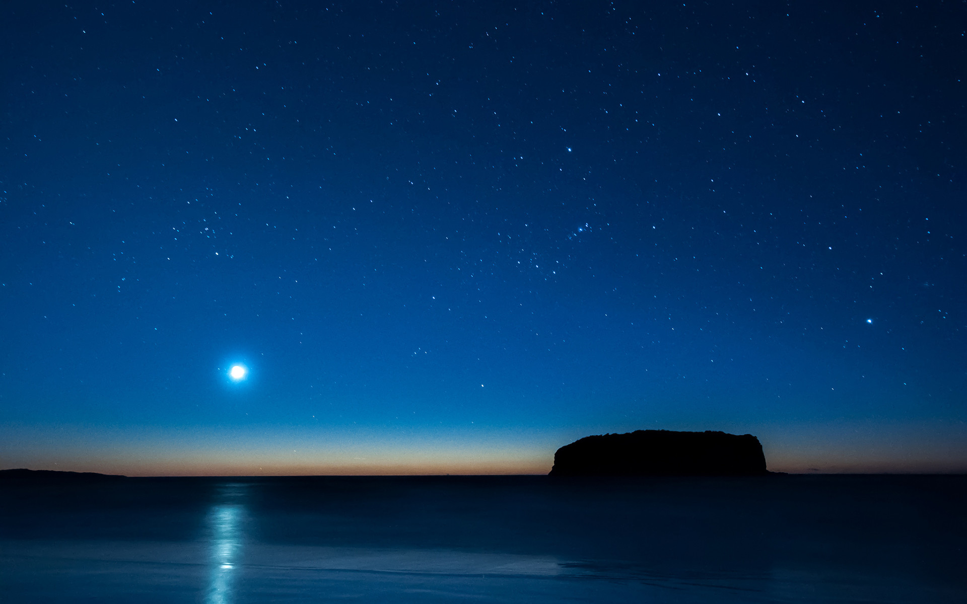 Moonlight Stars Night Ocean Blue wallpaper     119099    WallpaperUP