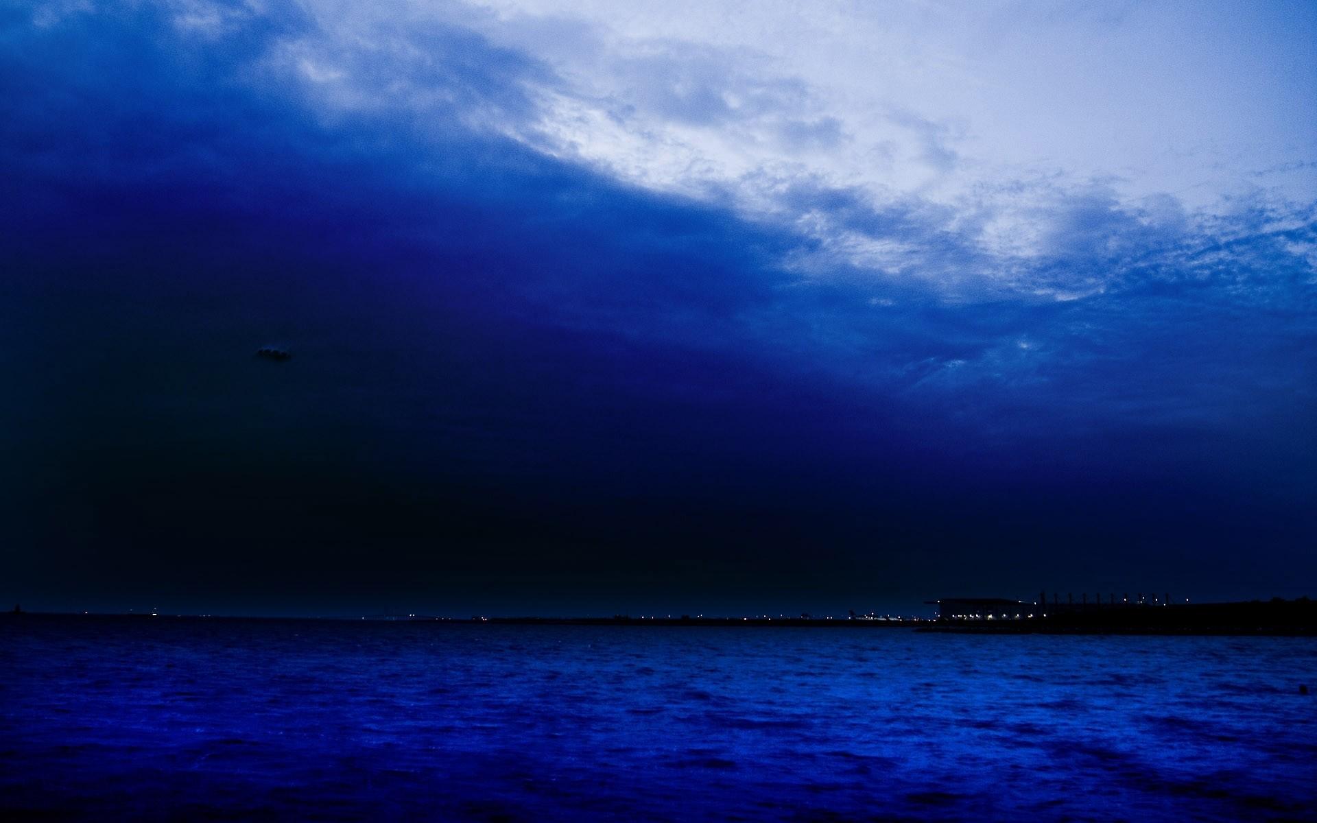 Landscapes lakes sea ocean coast shore night lights sky clouds wallpaper      34239   WallpaperUP