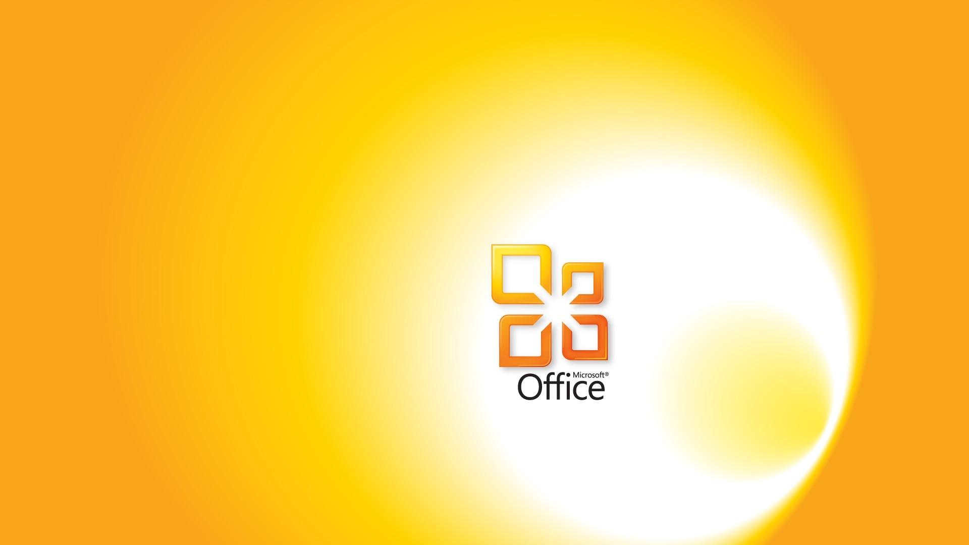Preview wallpaper microsoft, office, yellow, white, program 1920×1080