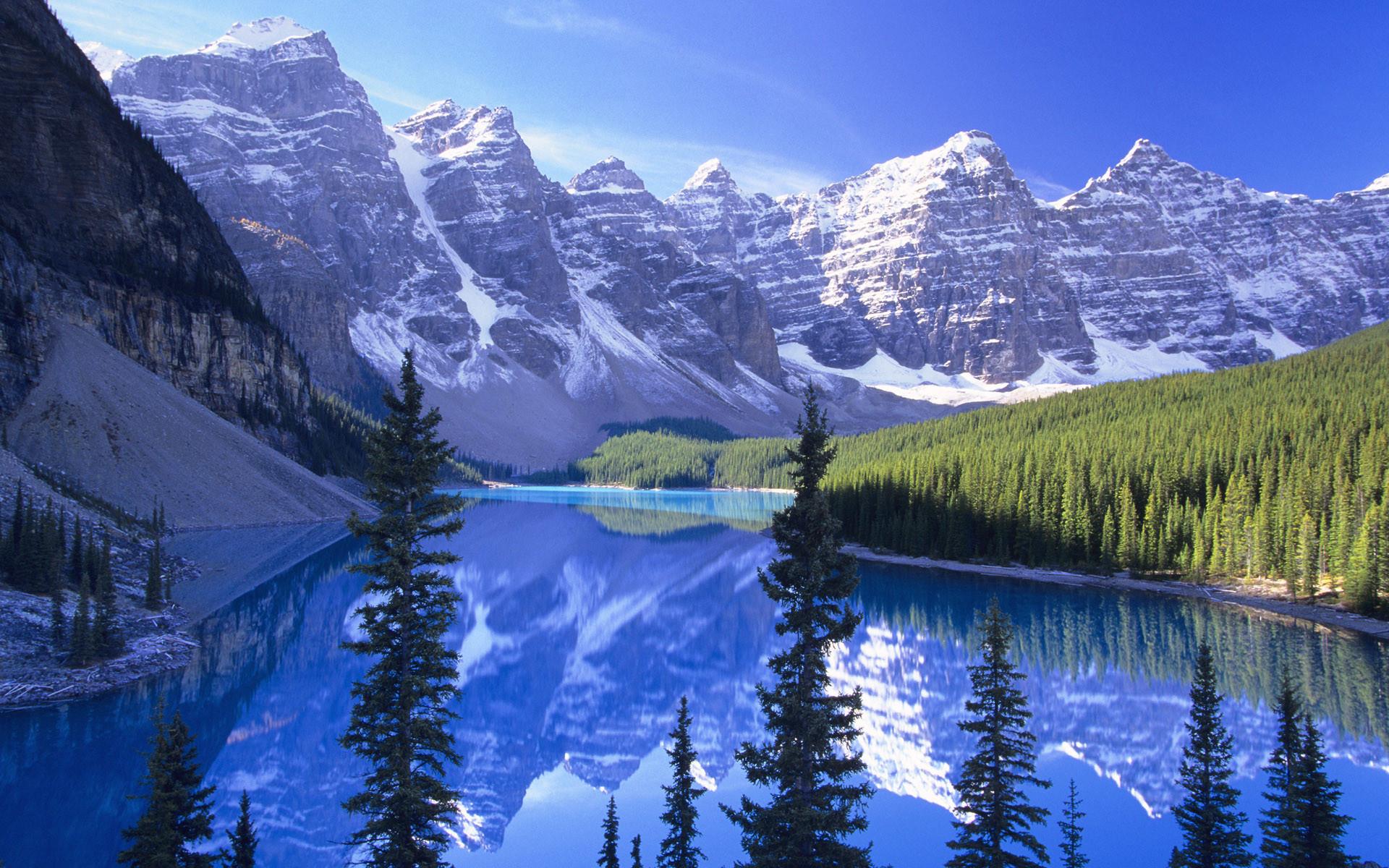 Free Microsoft Screensavers Winter Scene   … Blue, lakes, landscape,  mountains