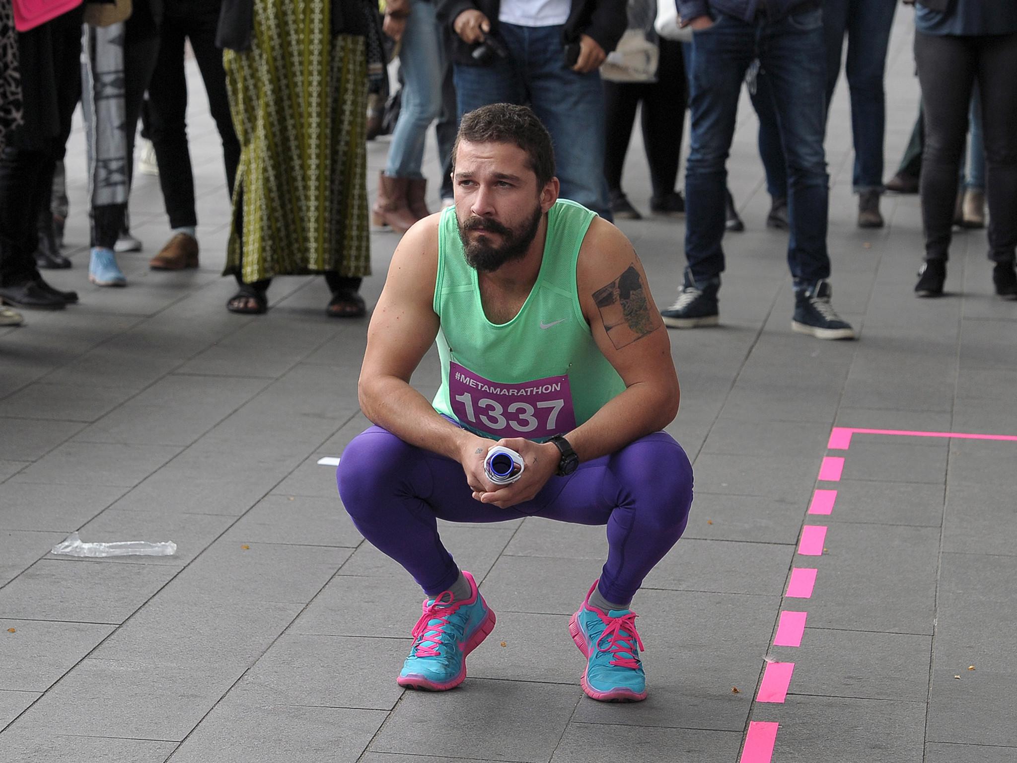 Shia LaBeouf runs around Amsterdam museum 144 times for bizarre art  '#metamarathon' | The Independent
