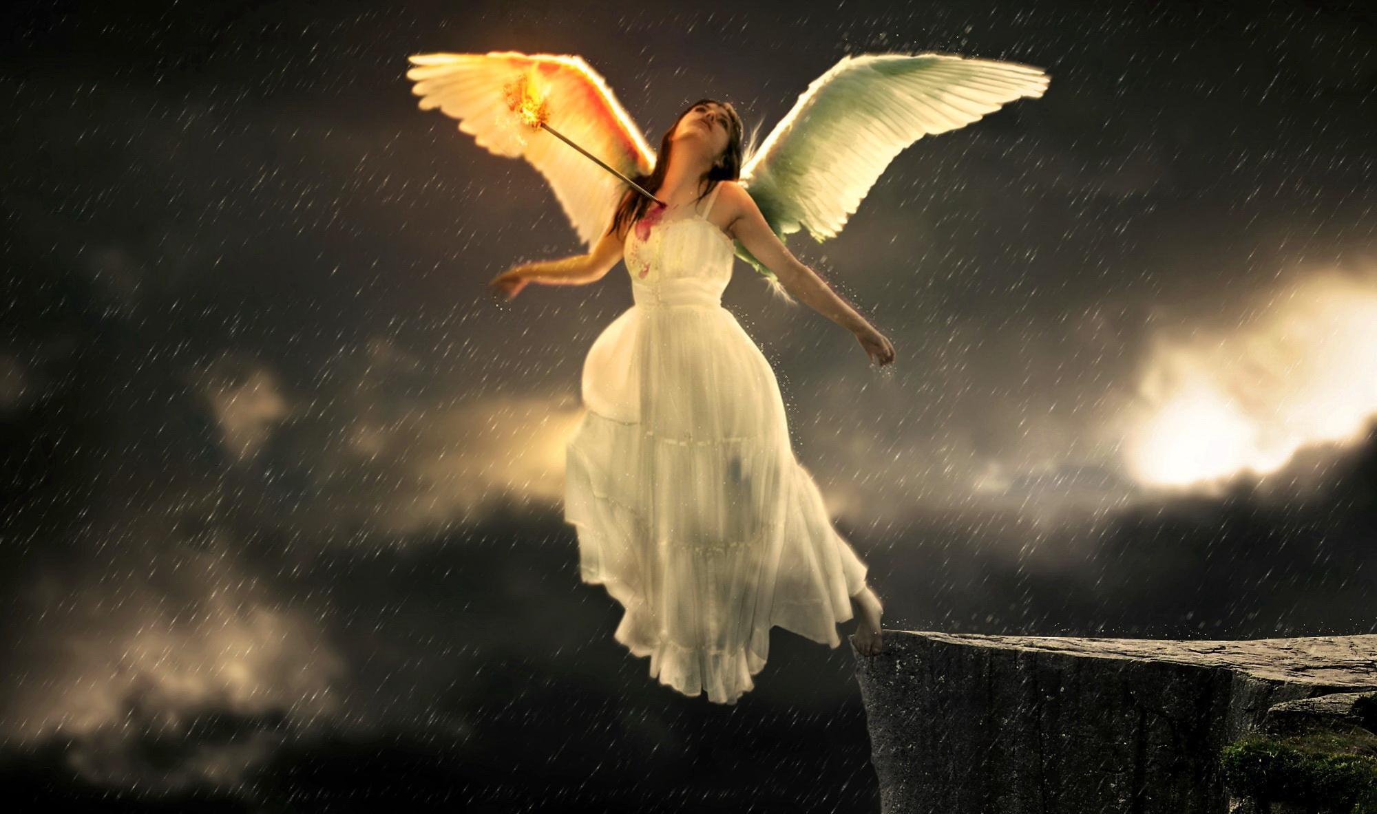 click HD Sad Angel Wallpaper image and save image as , click save .