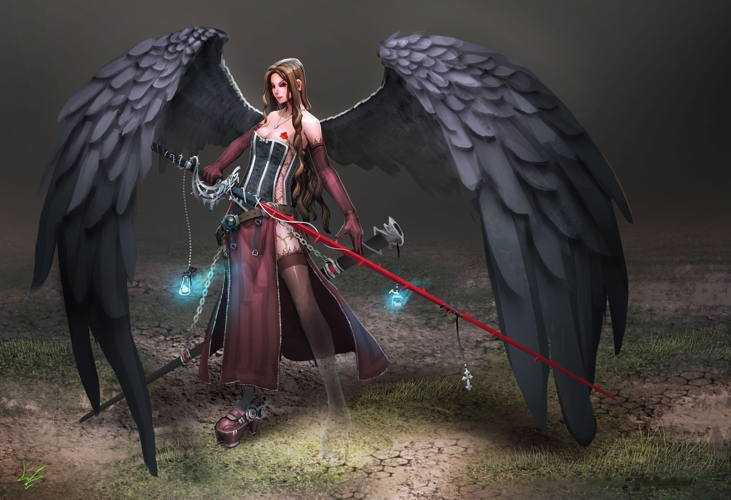2017-03-20 – angel warrior screensavers backgrounds, #1439415