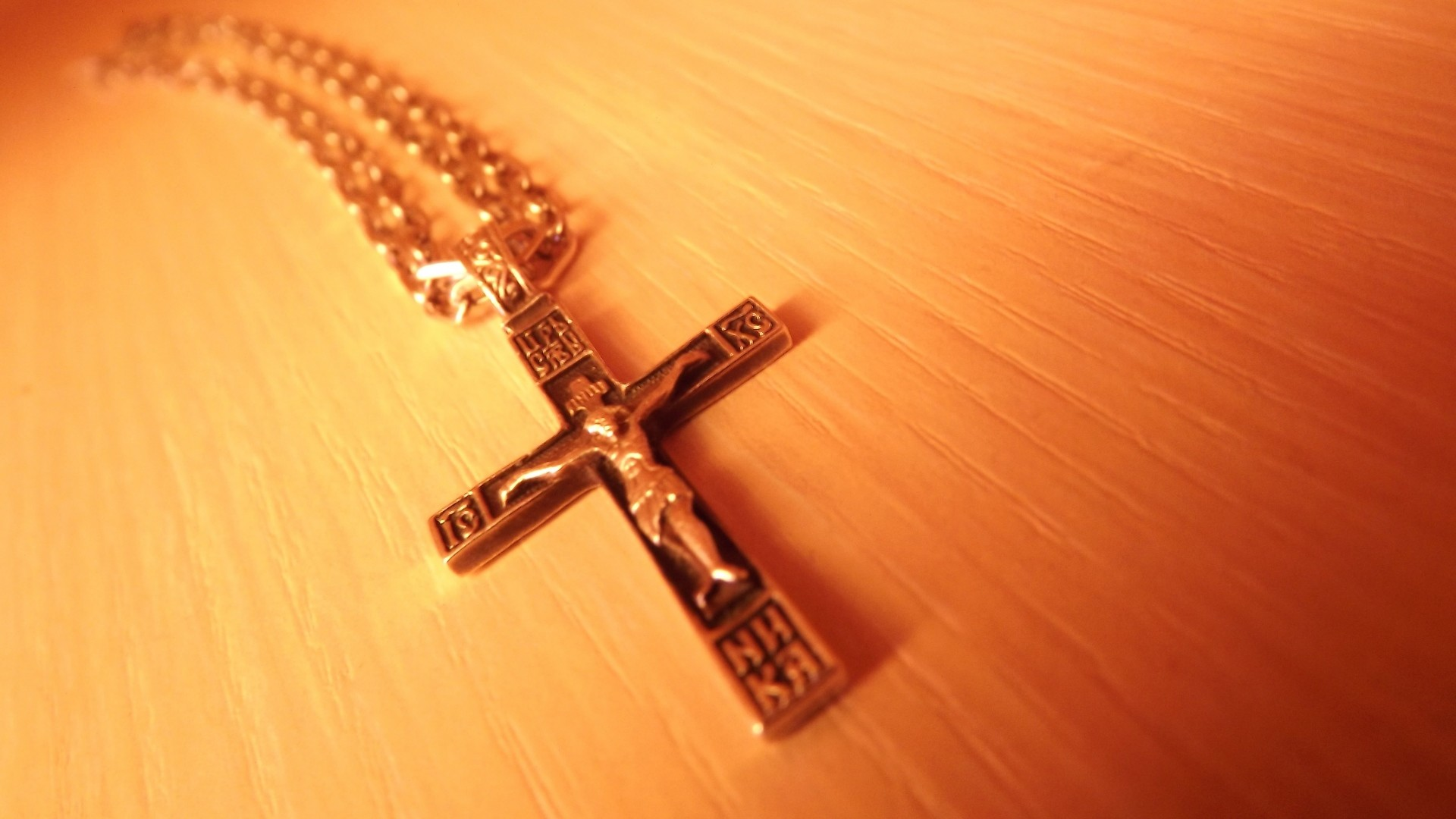 Preview wallpaper cross, chain, decoration, faith, orthodoxy 1920×1080